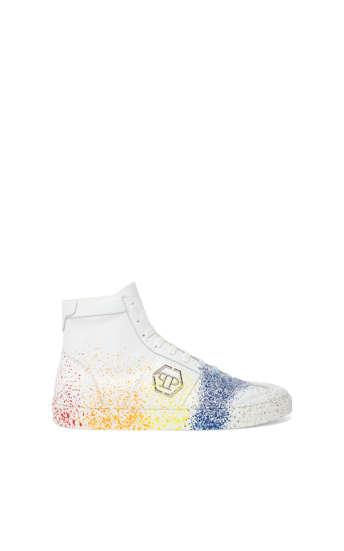 Philipp Plein Men's white high-top sneakers*