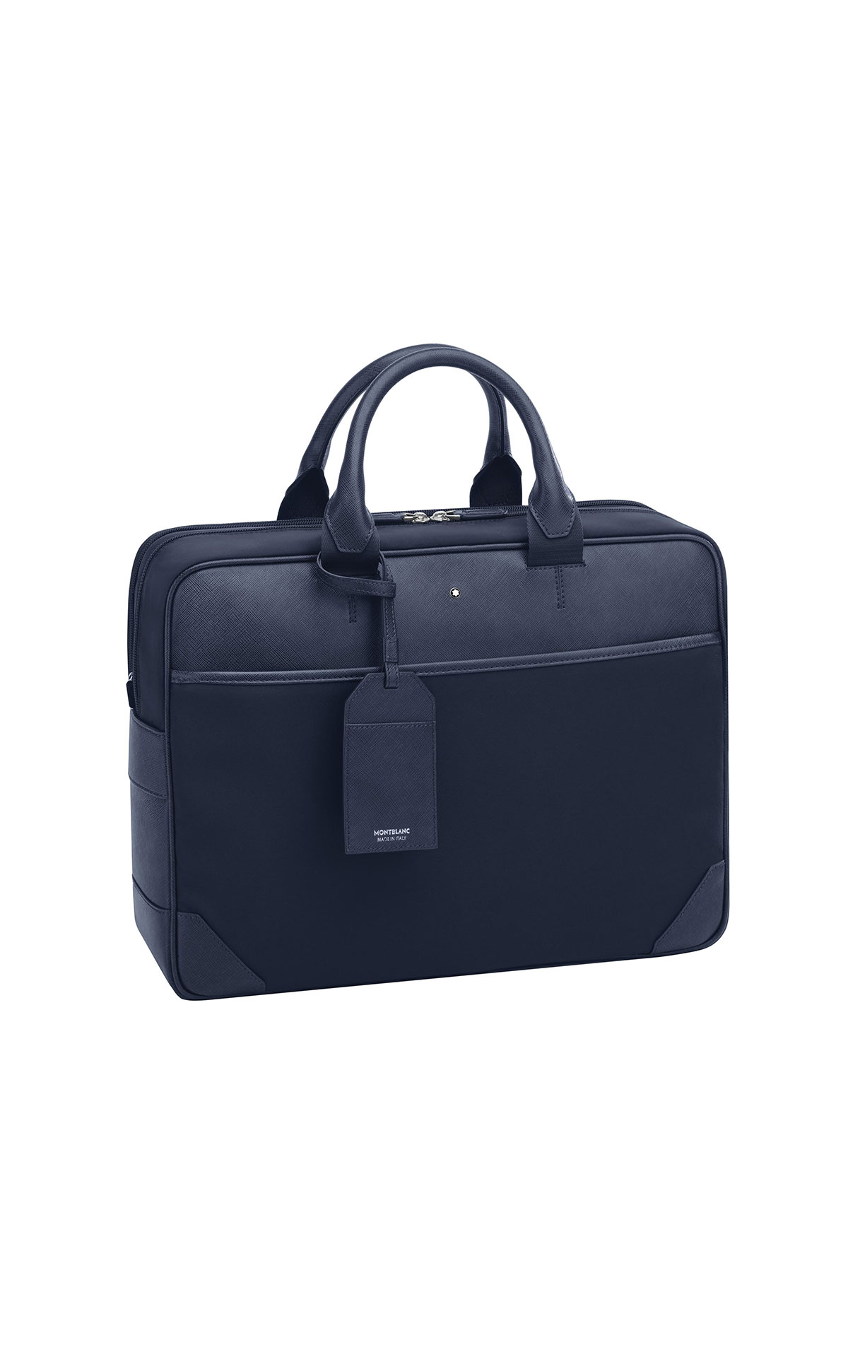 Montblanc Blue sartorial jet large document bag from Bicester Village