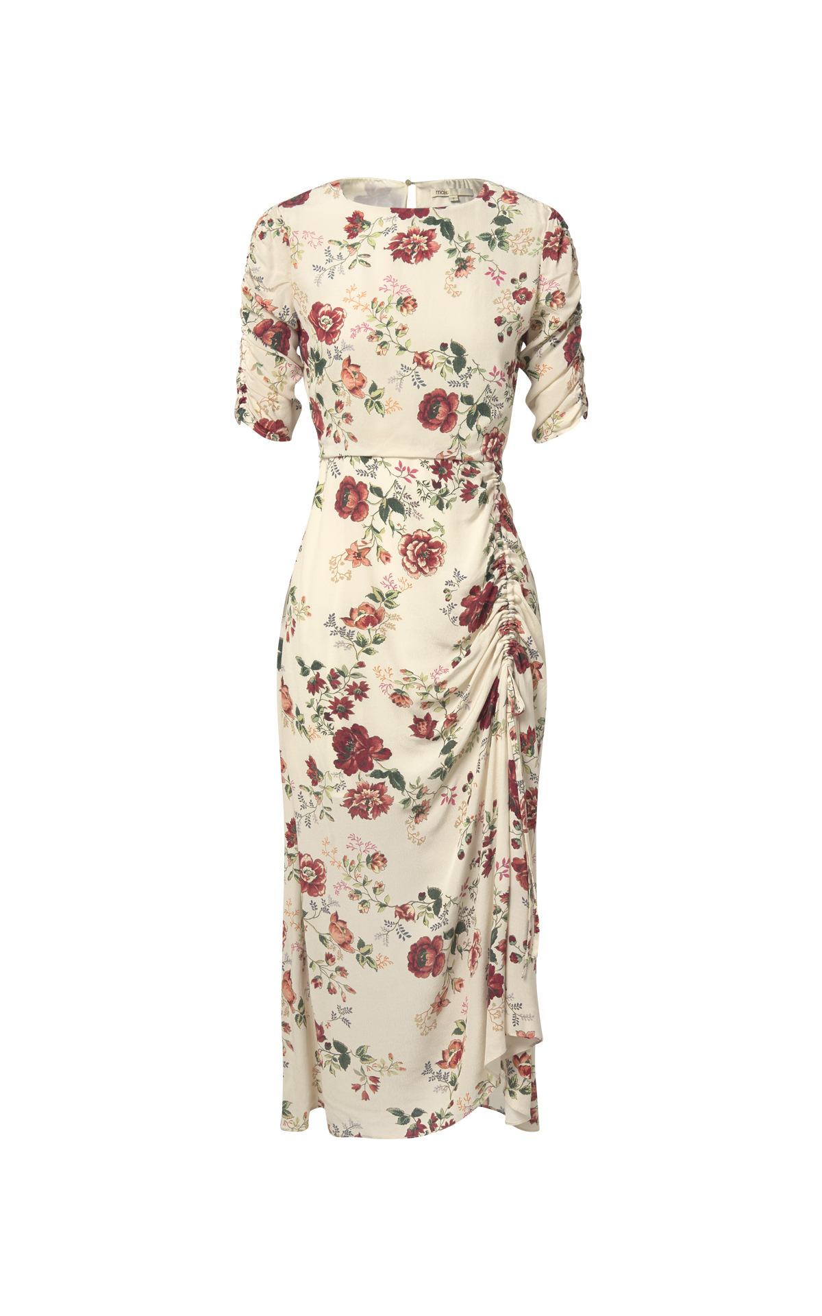 Beige flowered dress Maje