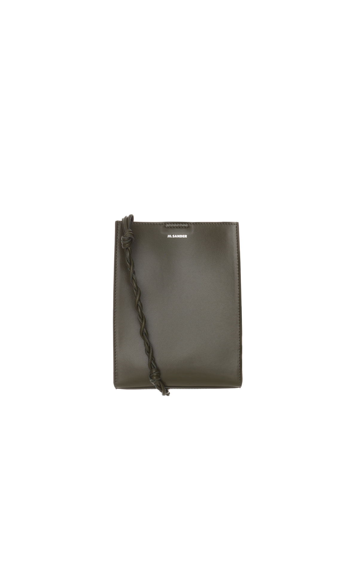 Jil Sander Small Tangle bag in military from Bicester Village