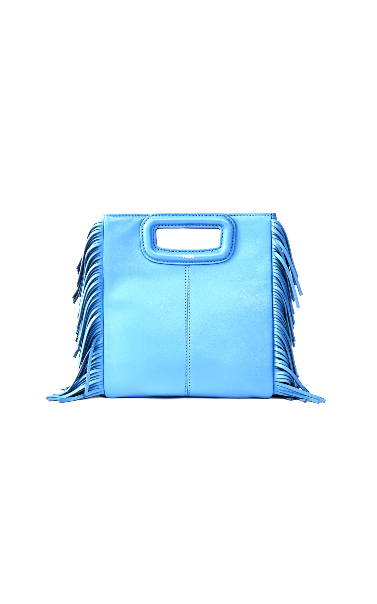 Maje blue leather medium bag at The Bicester Village Shopping Collection
