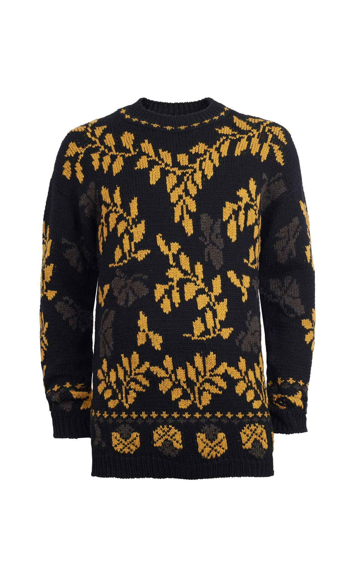 Black sweater with mustard print Etro
