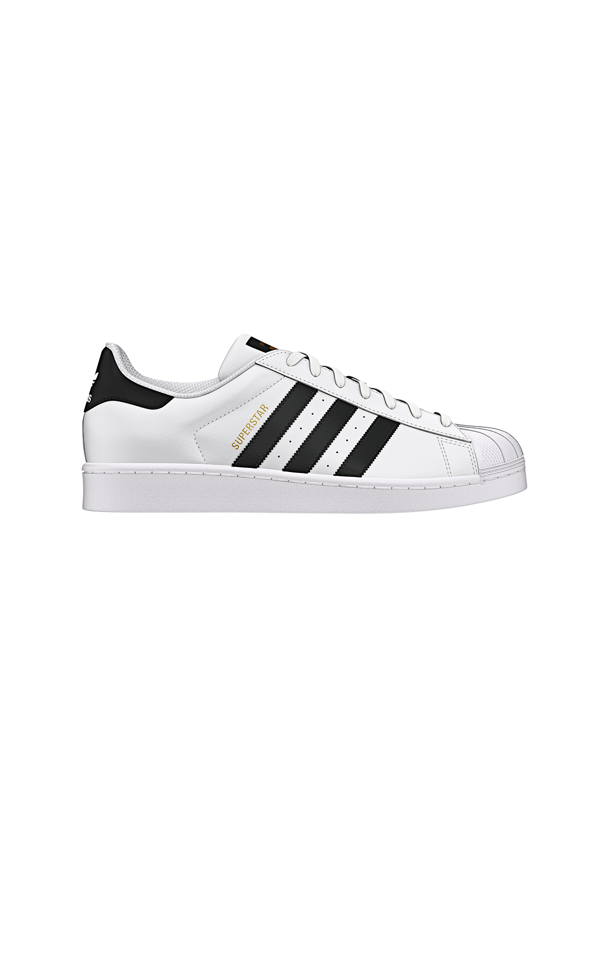 White and black Superstar sneakers adidas