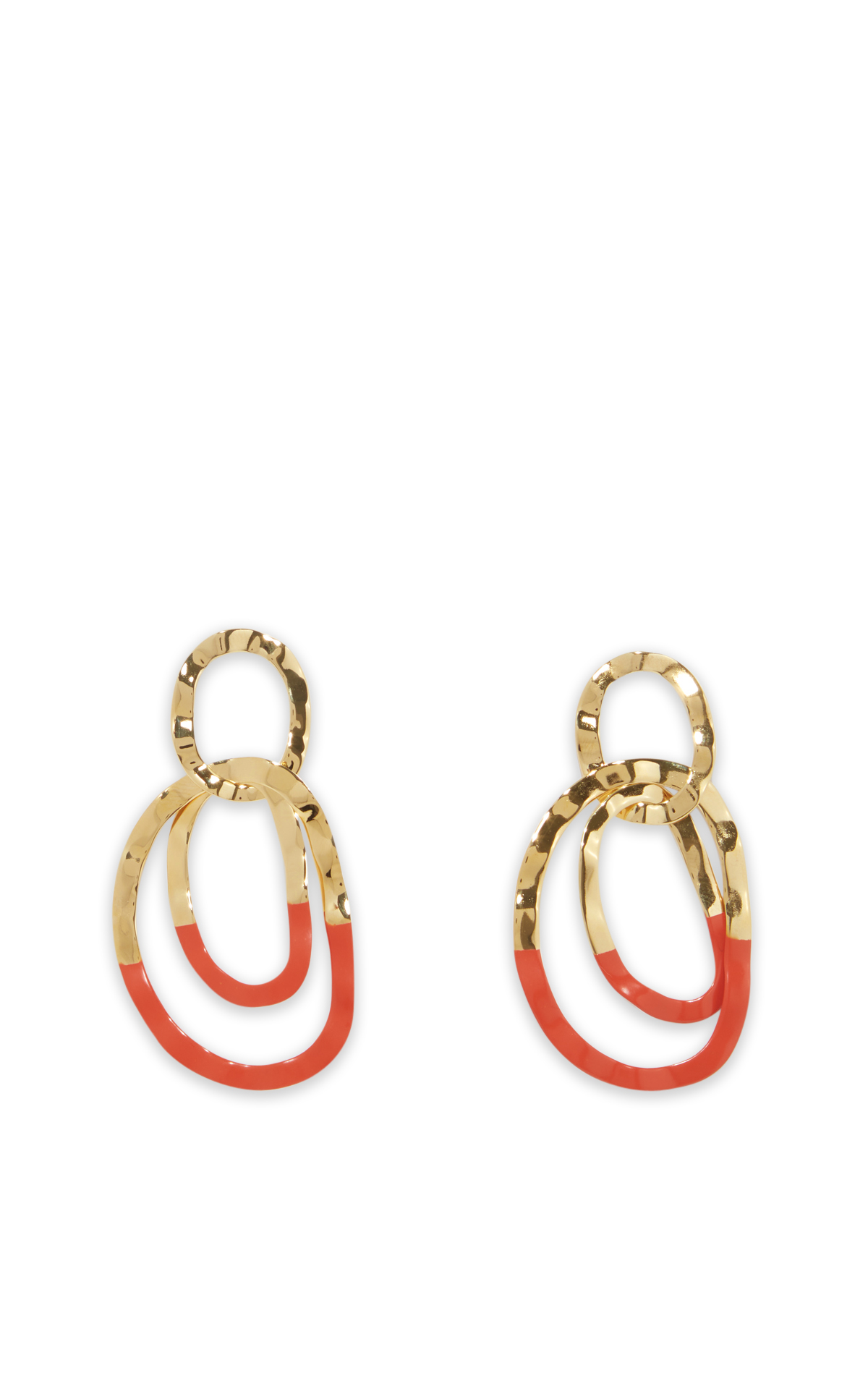 la vallée village Isabel Marant Red and gold earrings