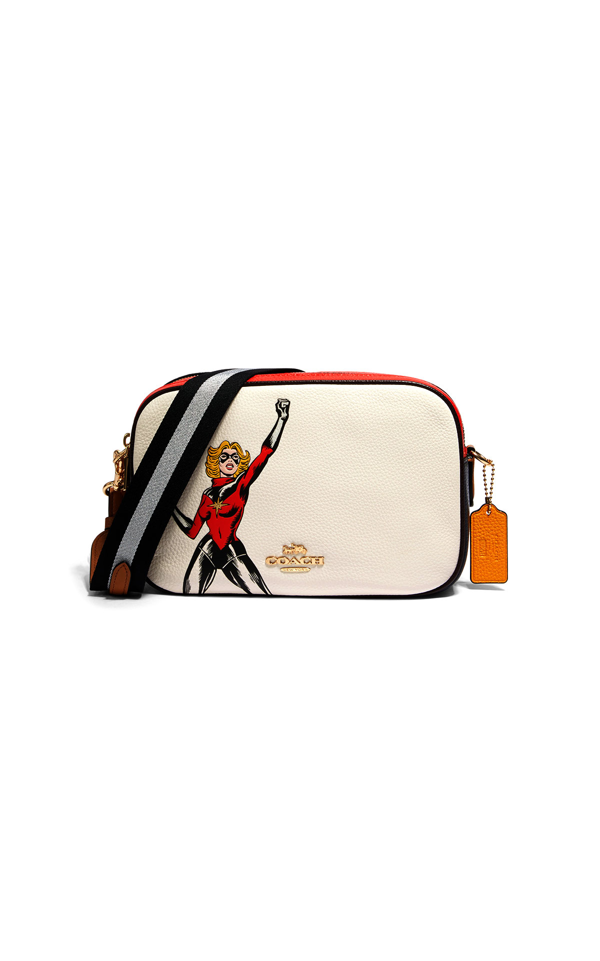 Coach Carol Danvers motif on leather jes crossbody at The Bicester Village Shopping Collection