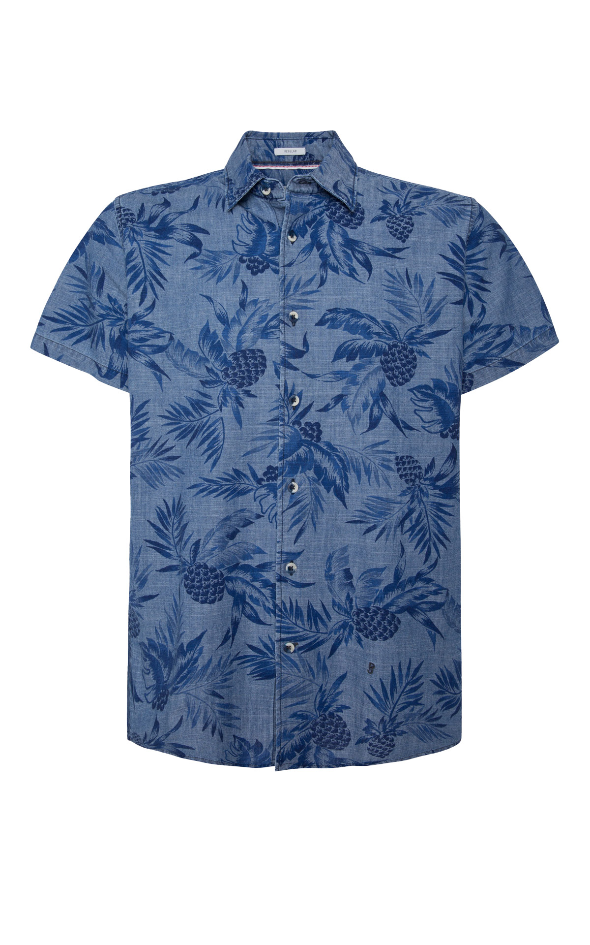 Blue floral shirt Pepe Jeans