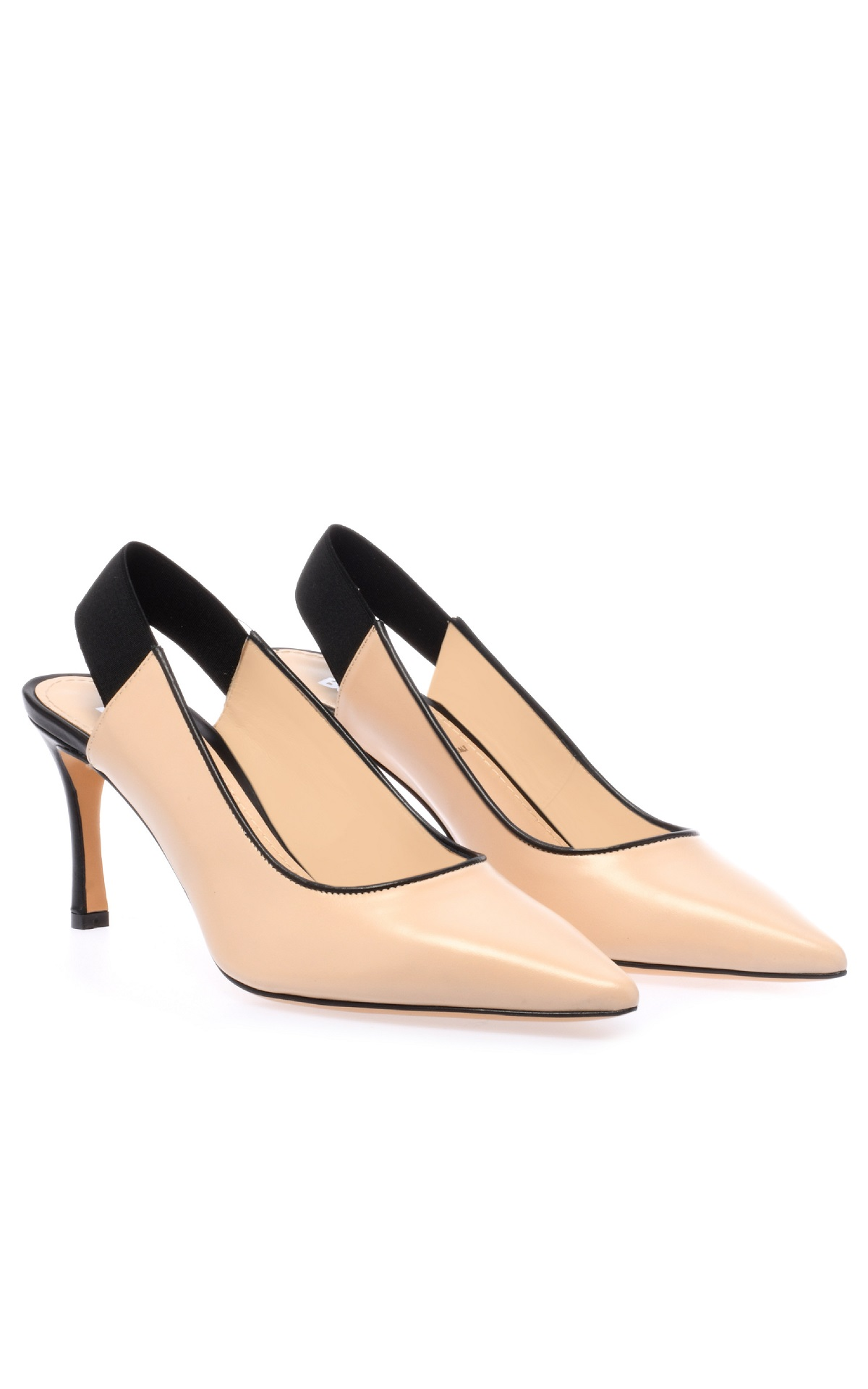 Nude leather pumps for woman Baldinini