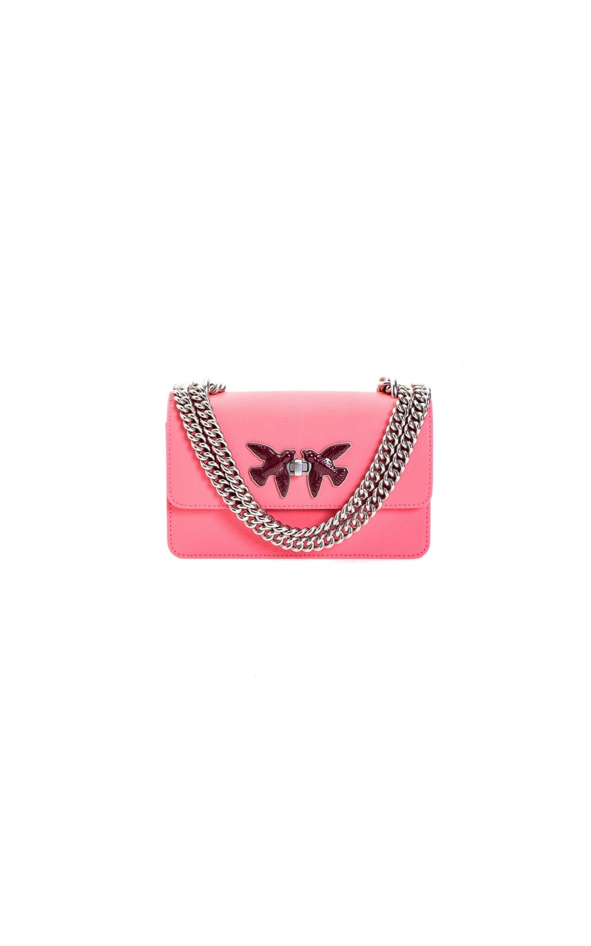 Pink leather bag Pinko
