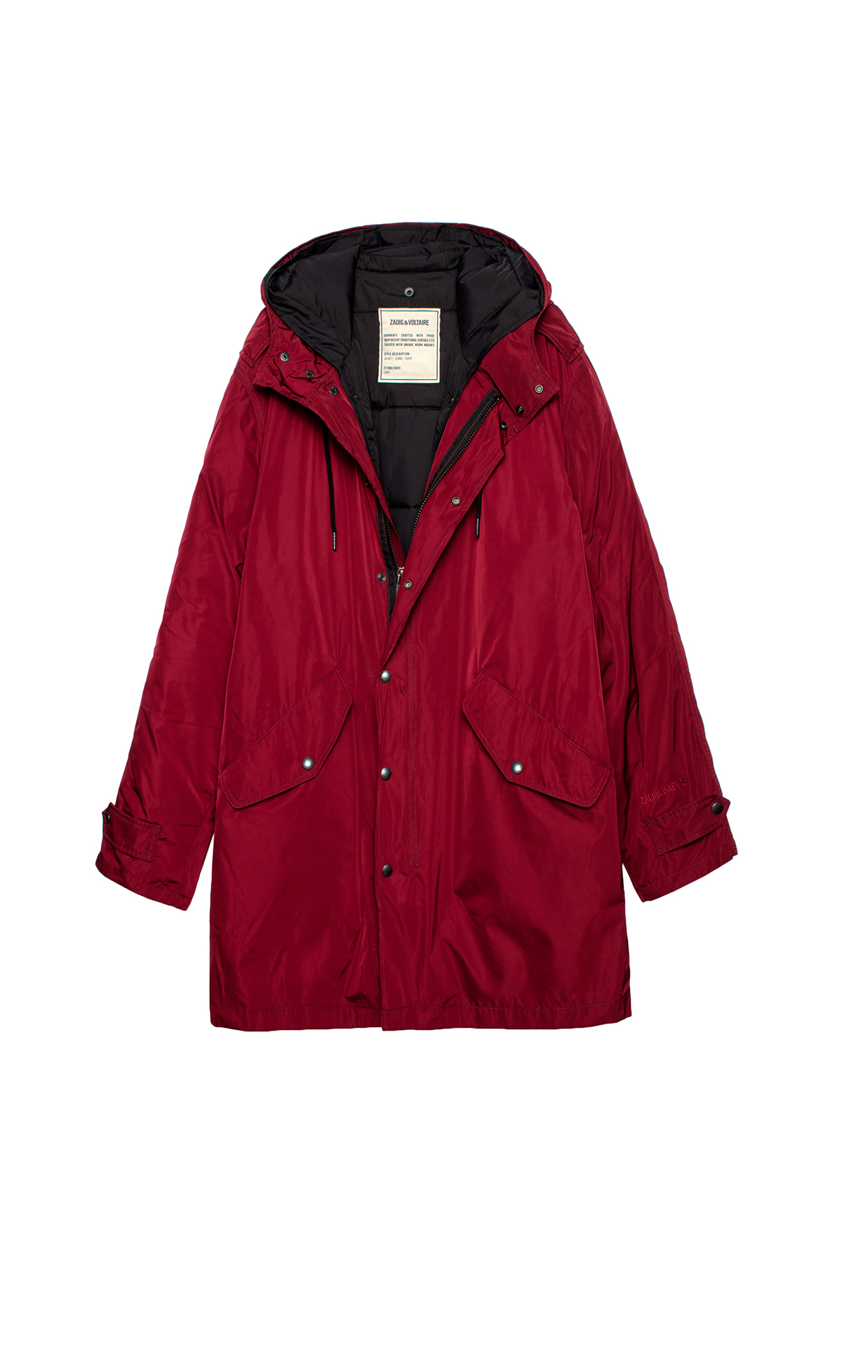Red parka Zadig & Voltaire