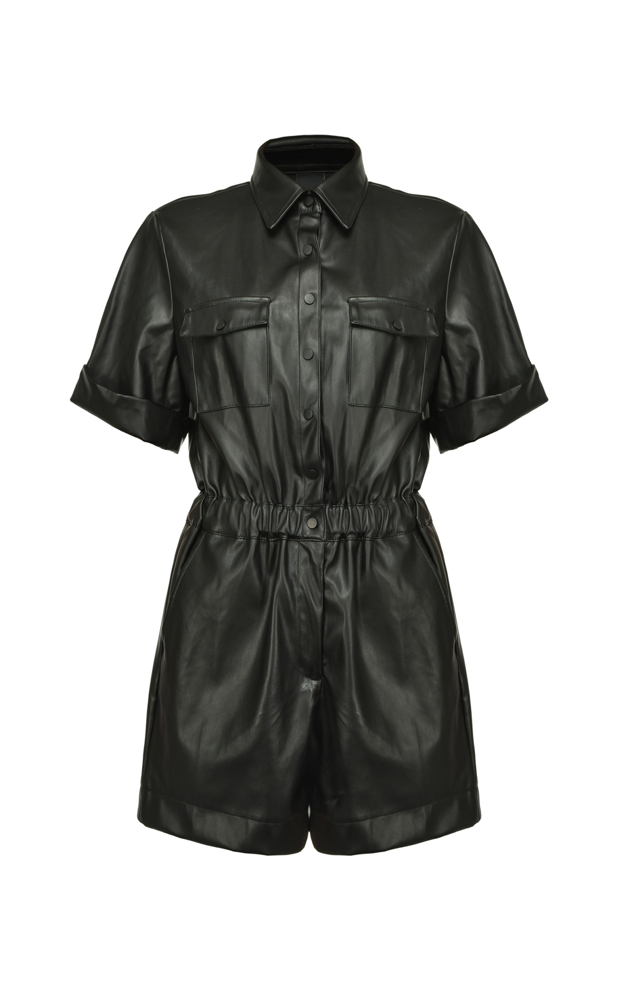 Black leather jumpsuit Pinko