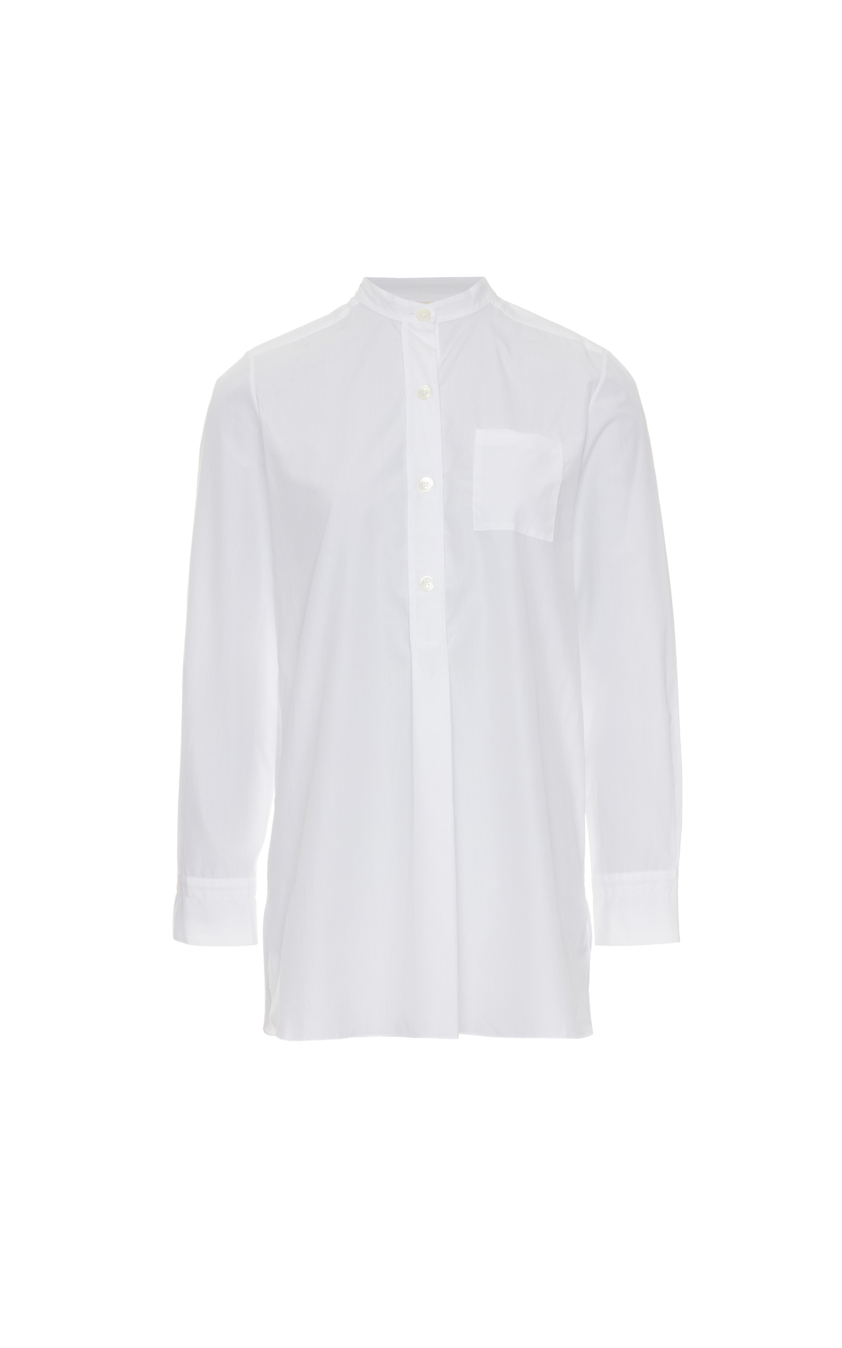 Marni Long sleeve blouse cotton poplin lily white from Bicester Village