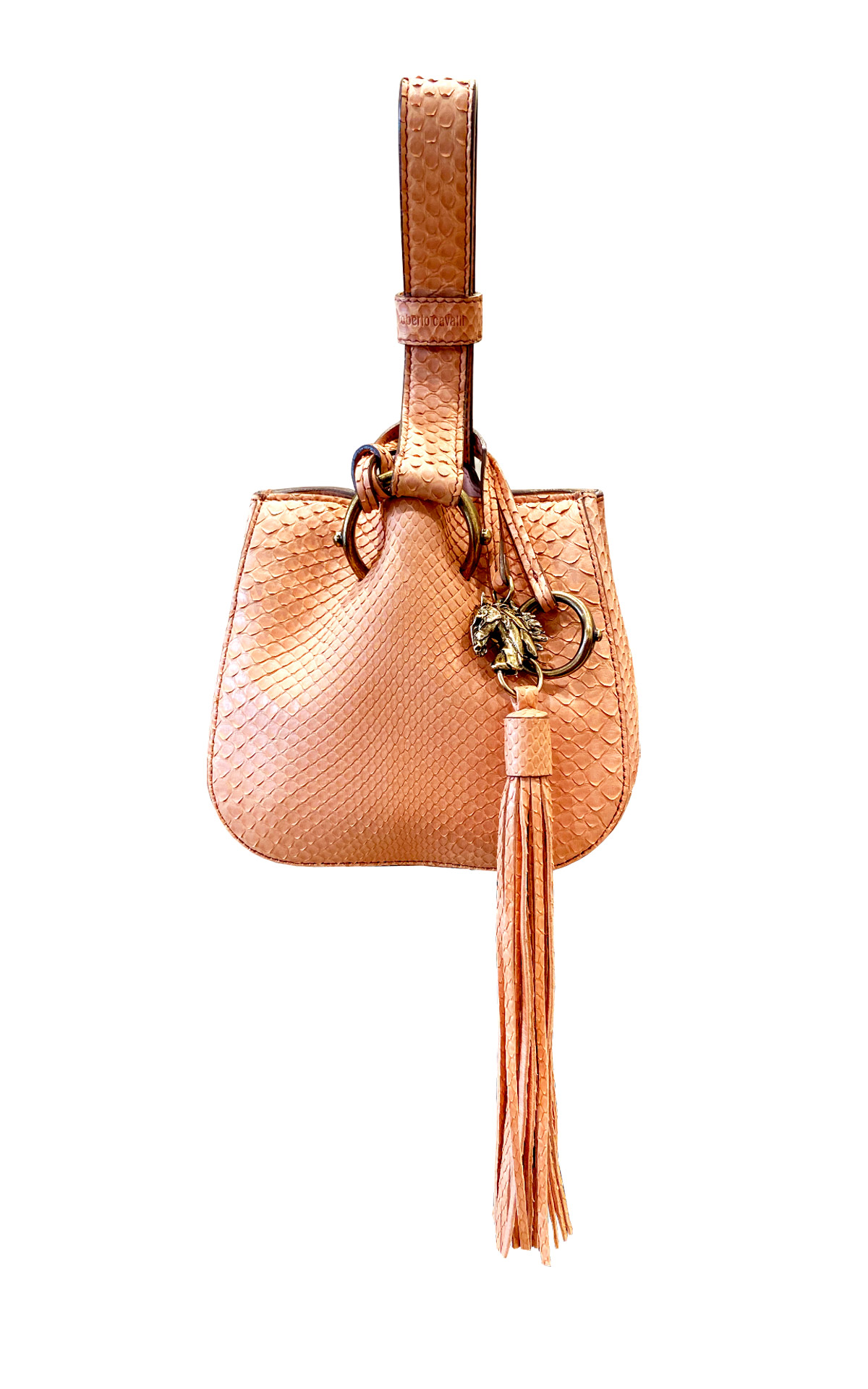 Brown leather bag Roberto Cavalli