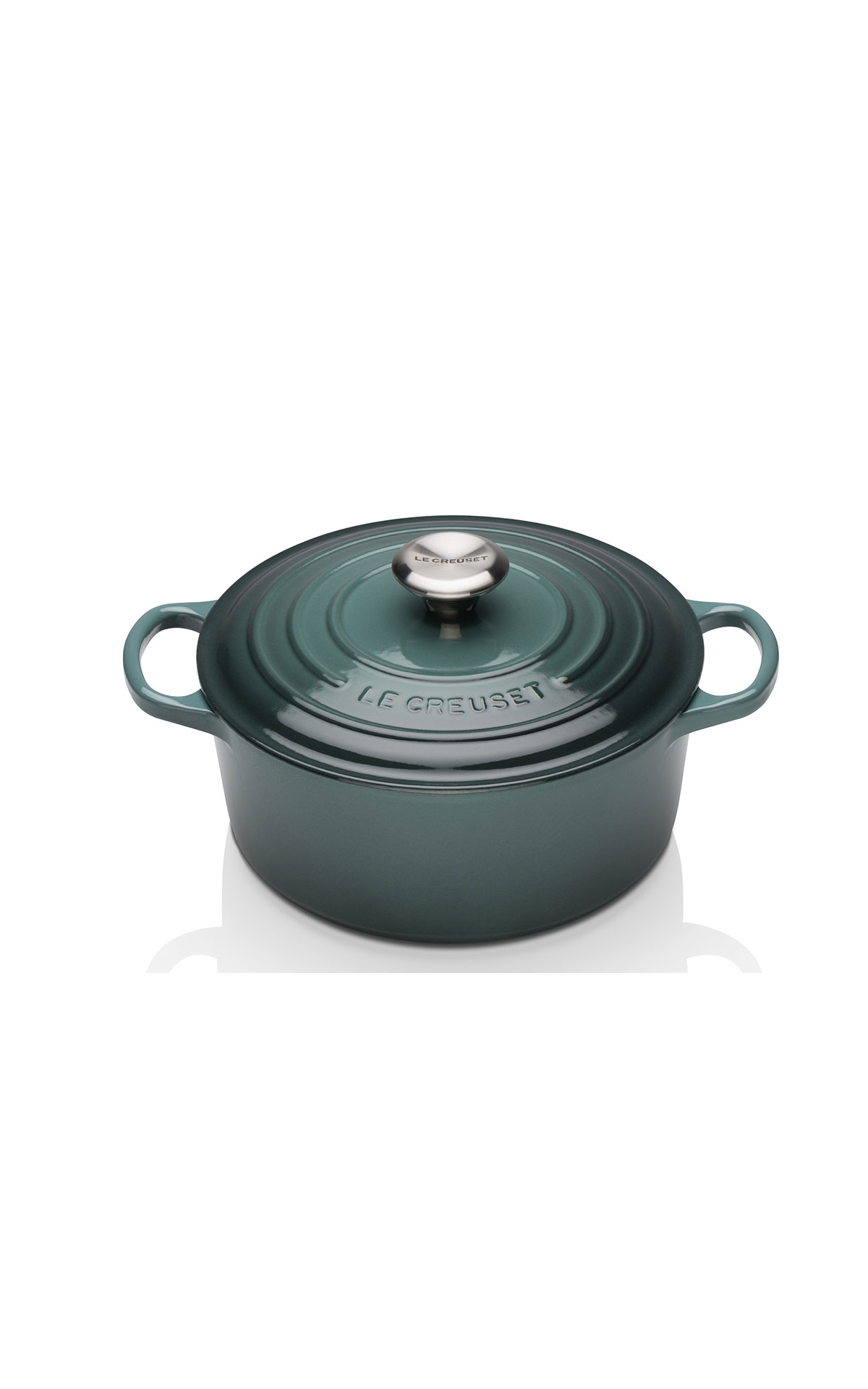 Le Creuset Ocean 24cm round casserole dish from Bicester Village