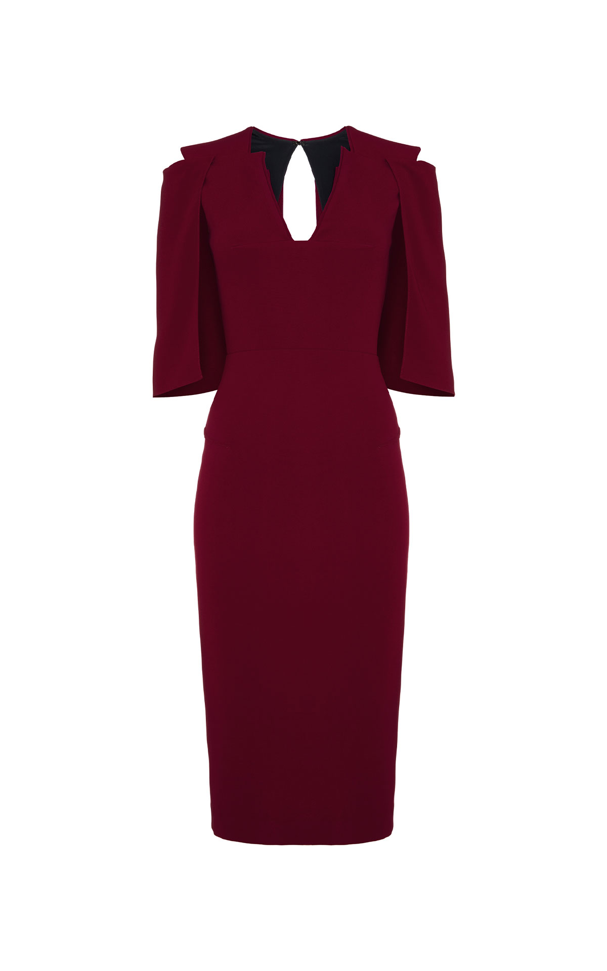 Roland Mouret Queensbury garnet dress from Bicester Village