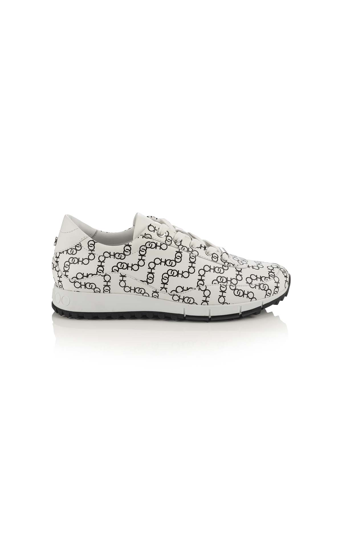 Jimmy Choo monza leather print choo chain white black at The Bicester Village Shopping Collection