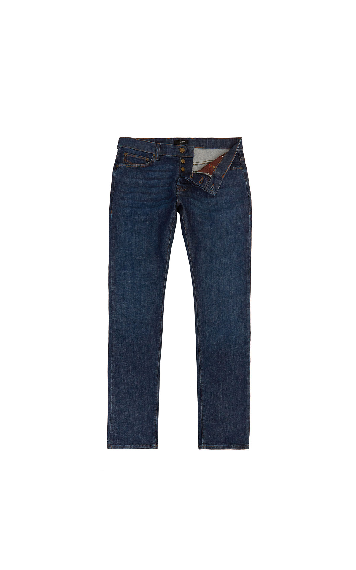 Ted Baker TWEETE Tapered Fit Mid Wash Menswear Jean at The Bicester Village Shopping Collection