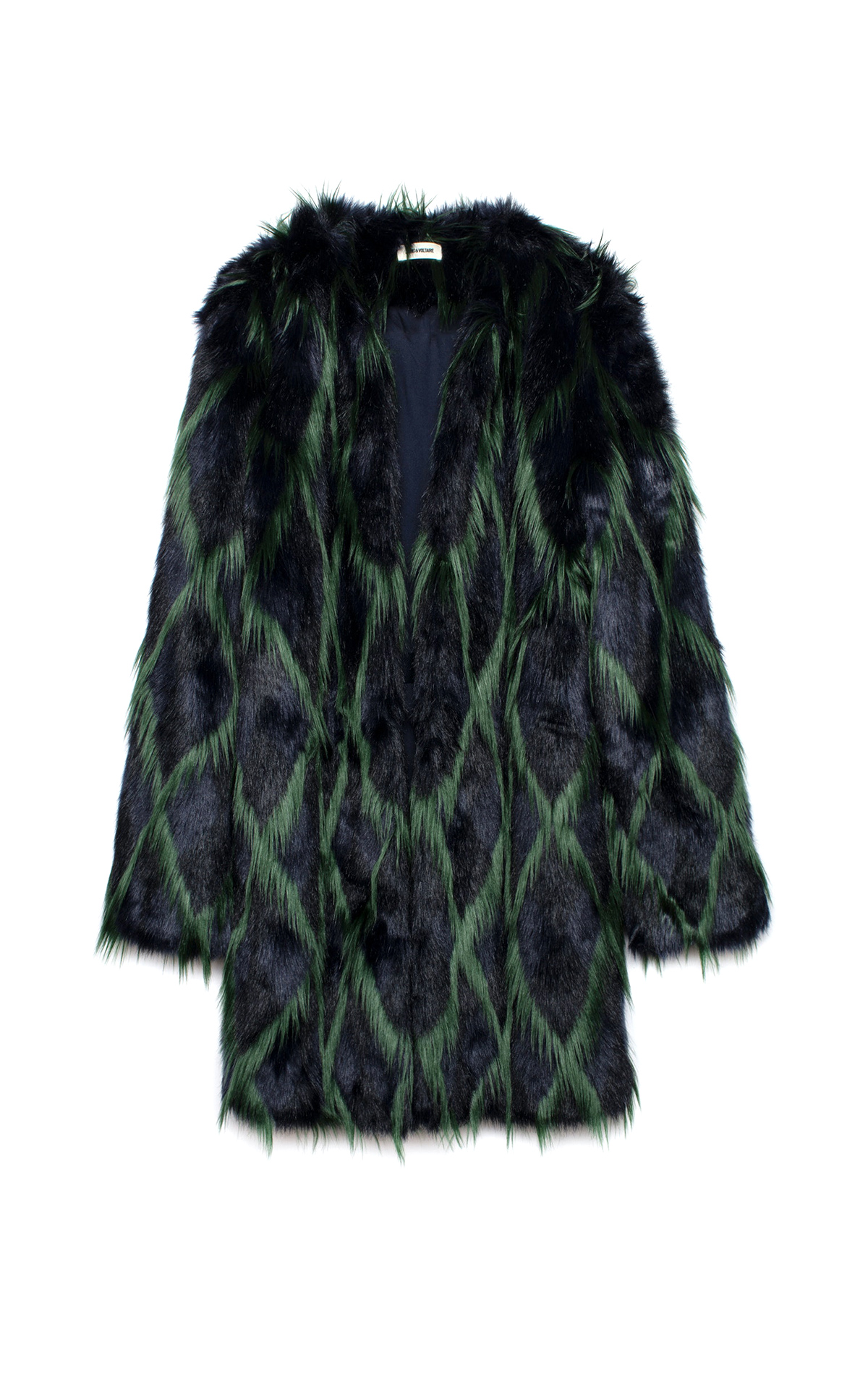 Black and green fur coat Zadig & Voltaire