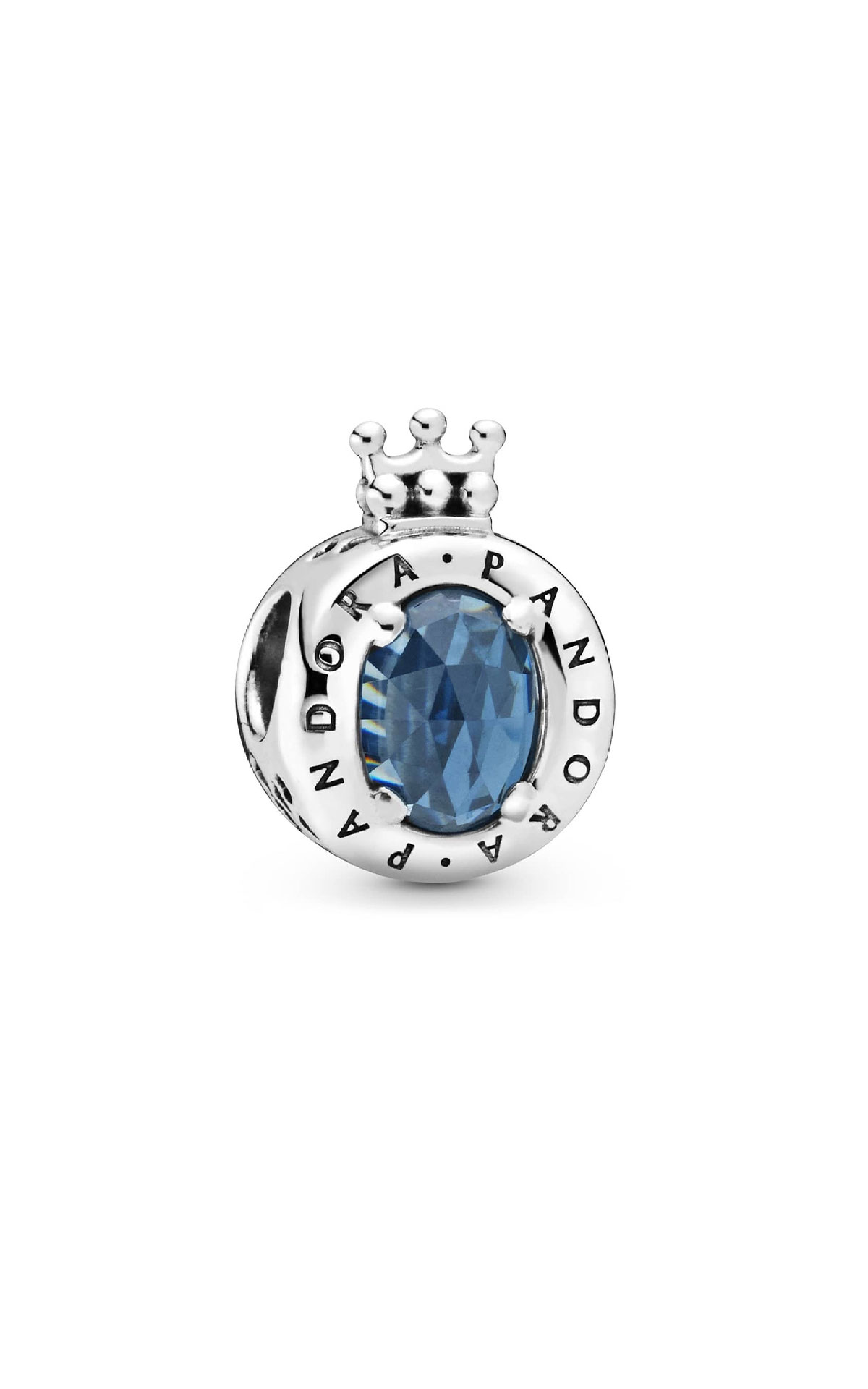 Pandora Blue sparkling crown o charm from Bicester Village