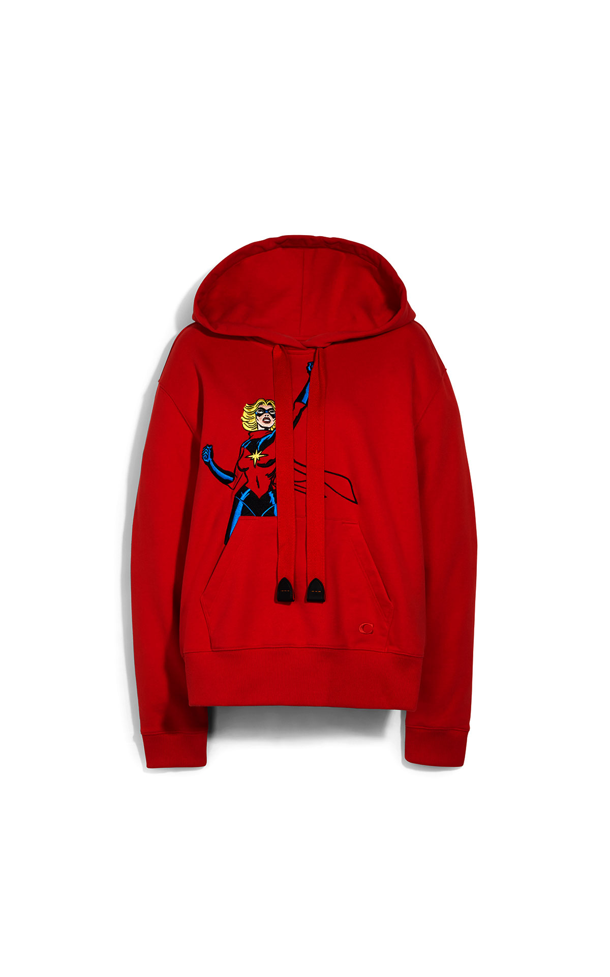Coach Marvel Carol Danvers Hoodie Red at The Bicester Village Shopping Collection