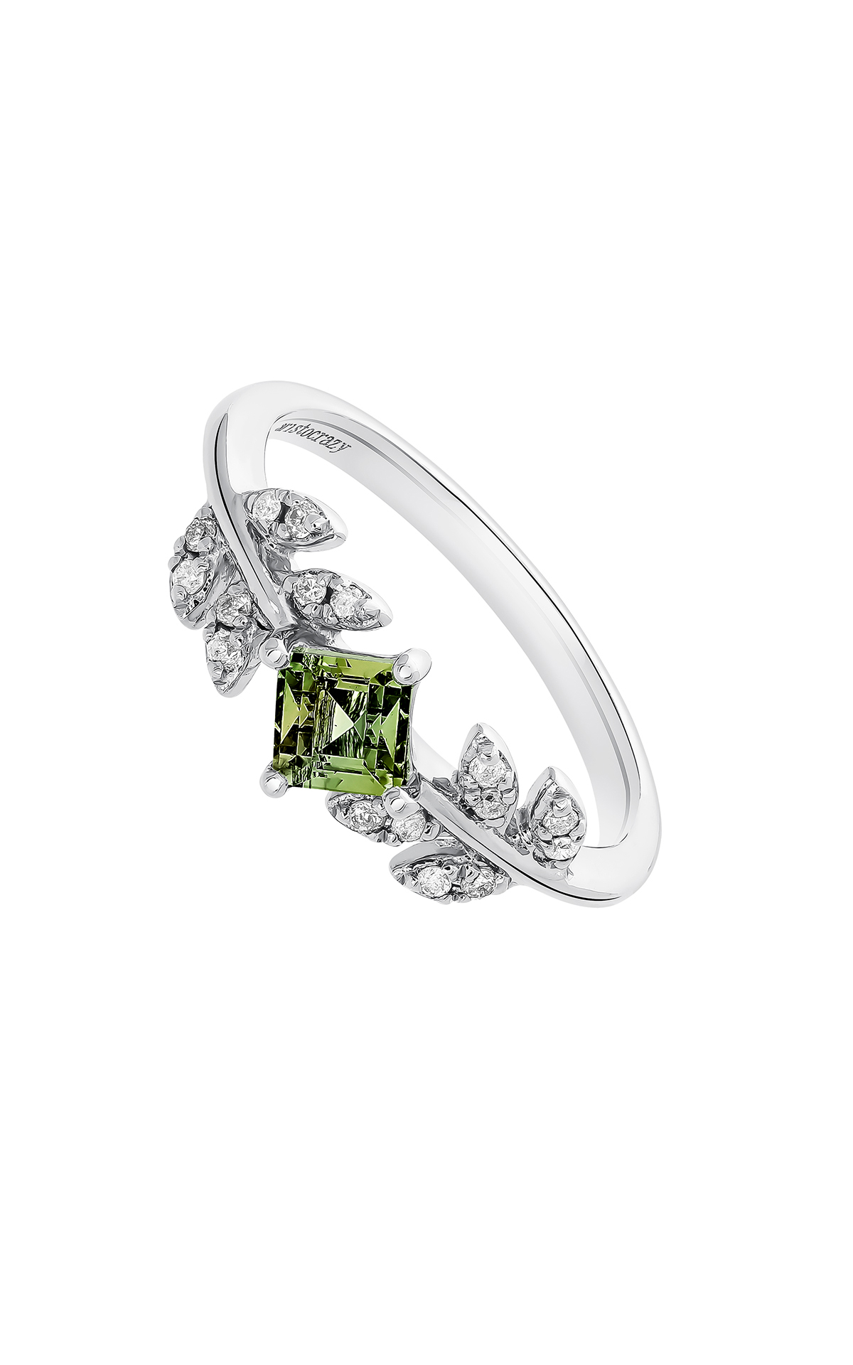 Ring with green stone Aristocrazy