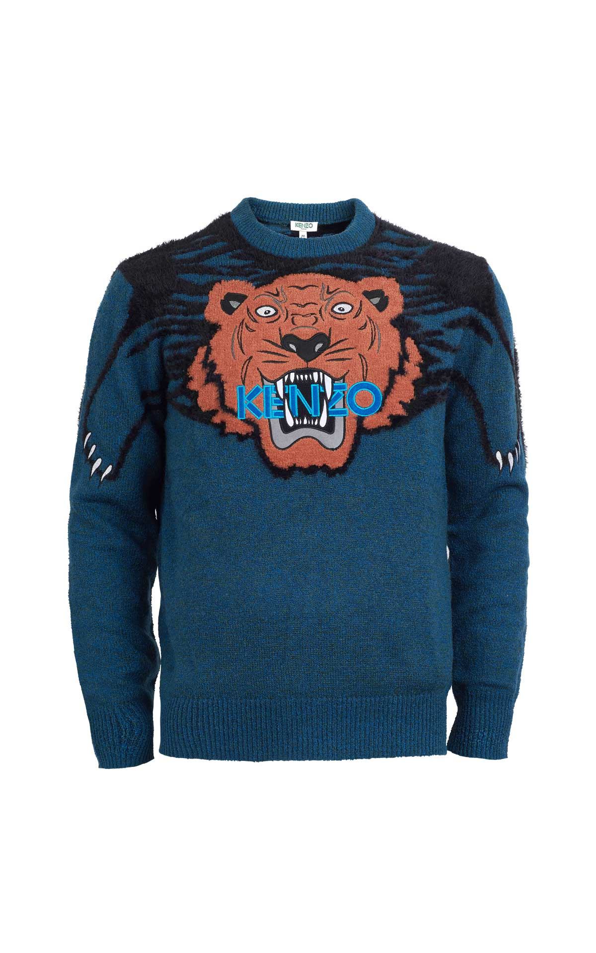 Blue sweater with a tiger Kenzo