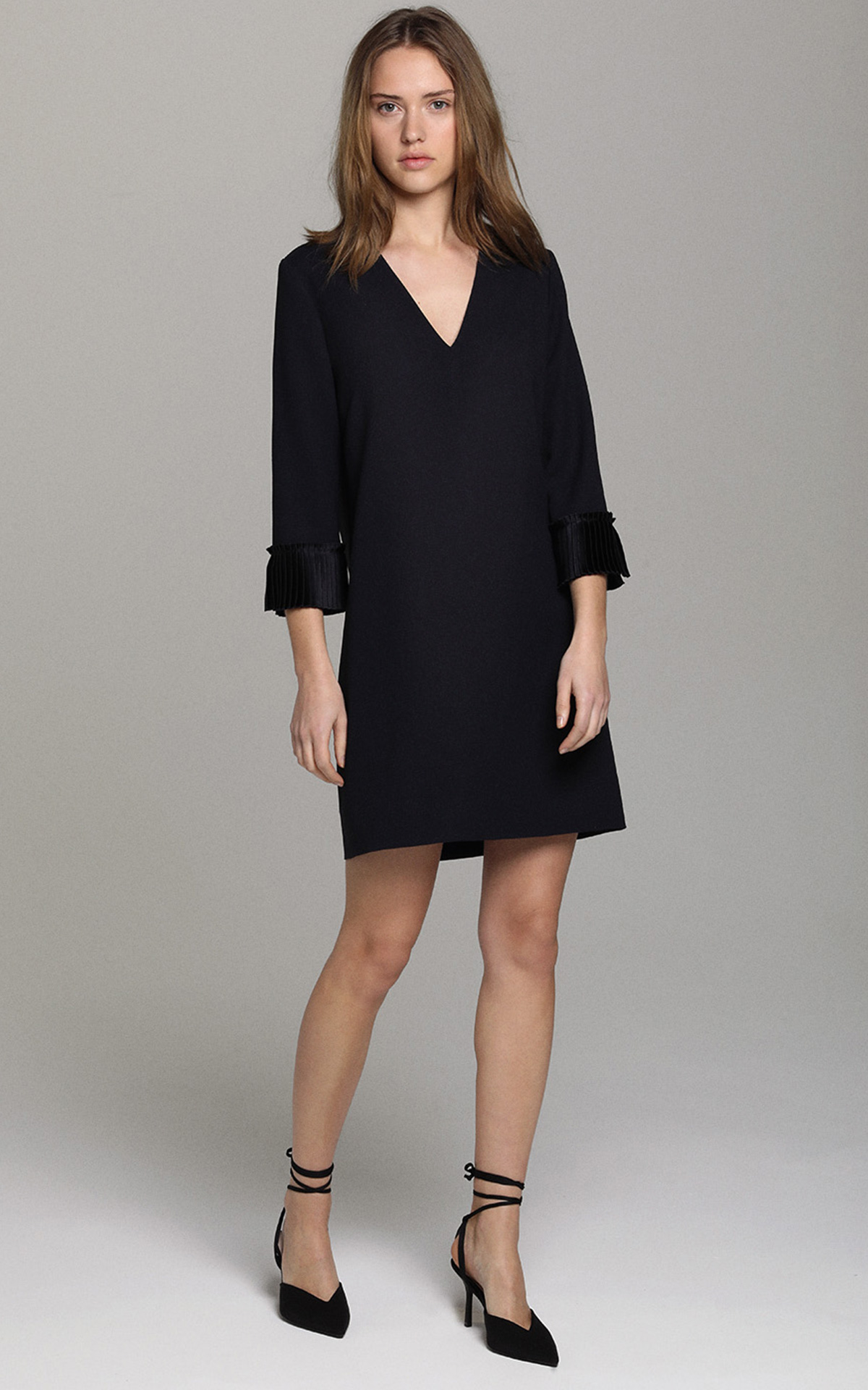 La Vallée Village Apostrophe satin dress