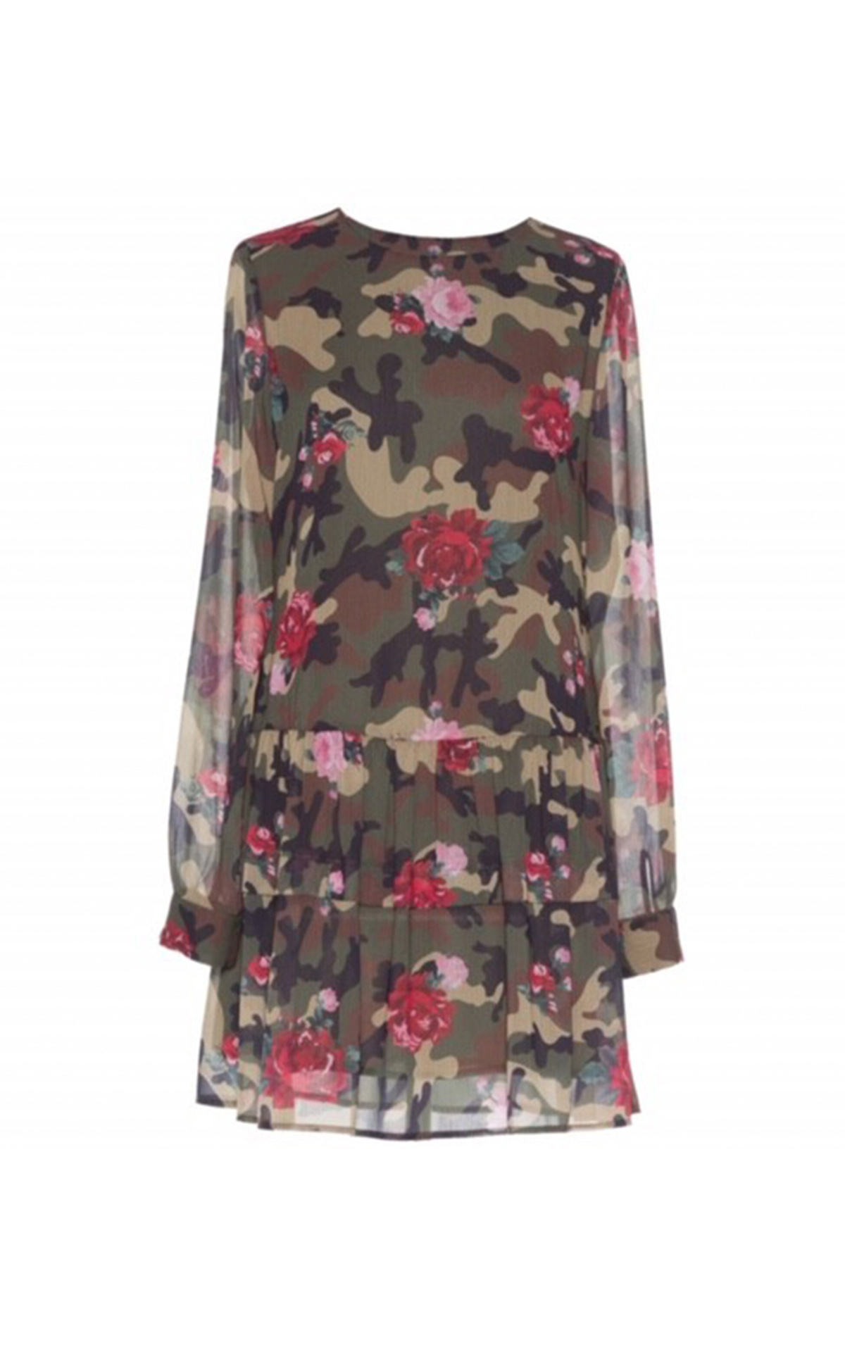 Silk military print dress Twinset