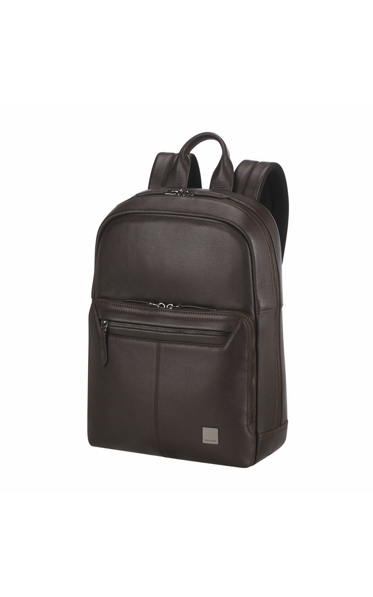 Brown leather backpack Samsonite