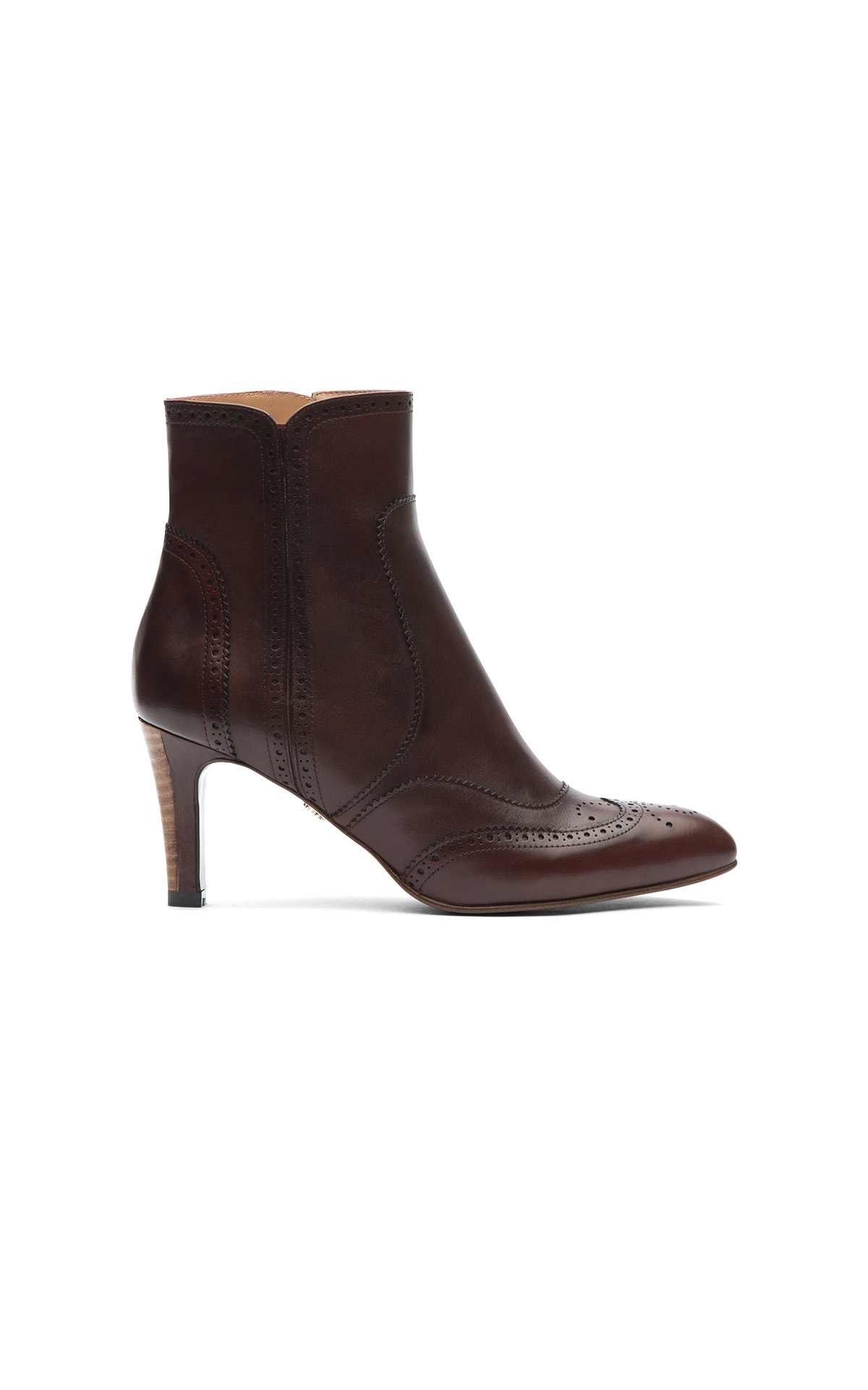 Brown heeled ankle boot Lottusse