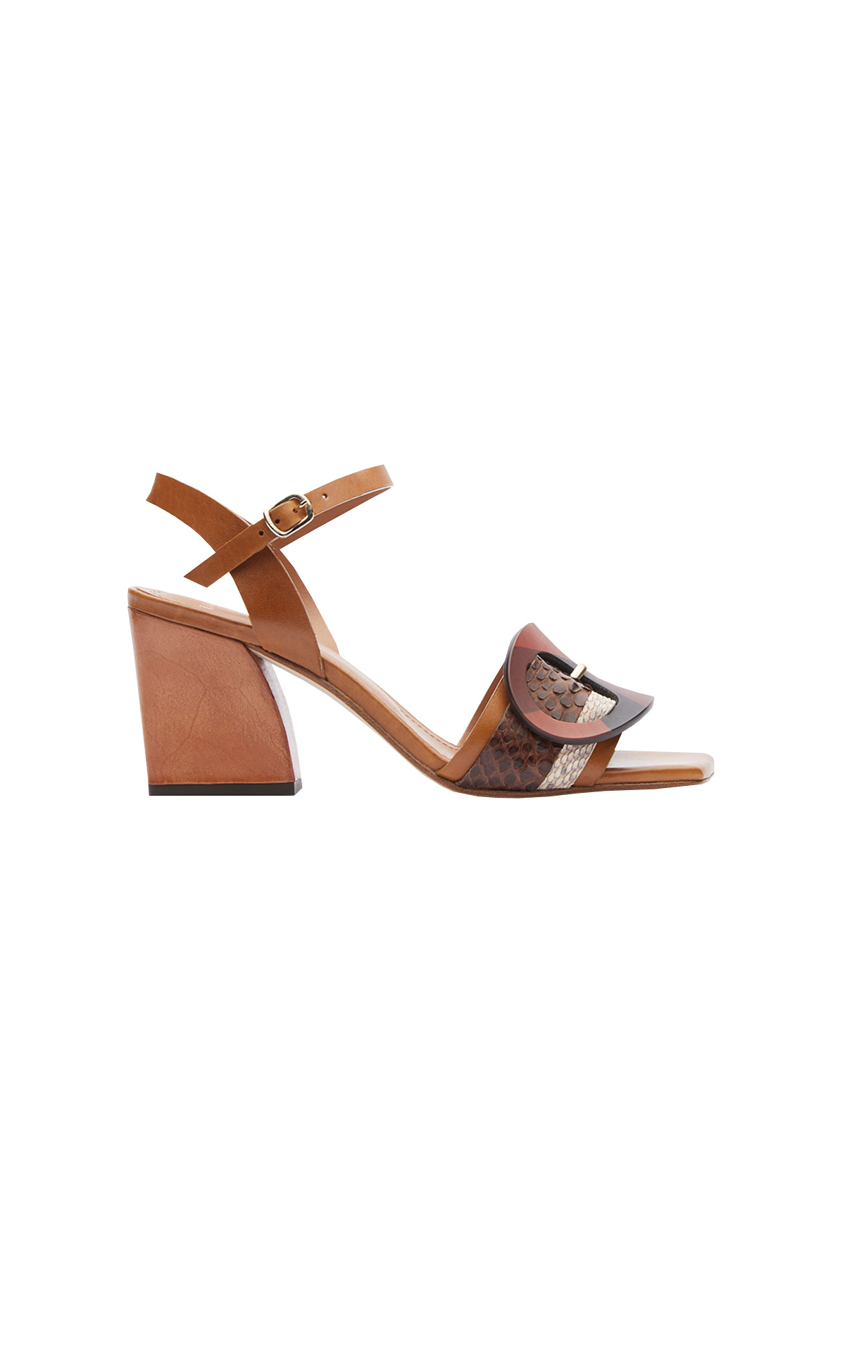 Brown sandal with buckle Lottusse