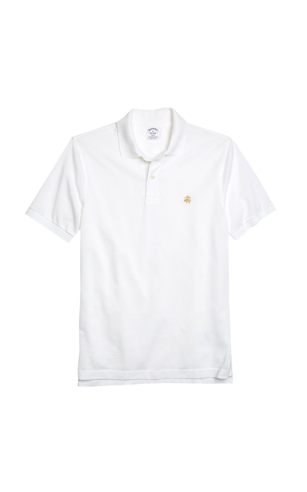 White Polo shirt for man Brooks Brothers