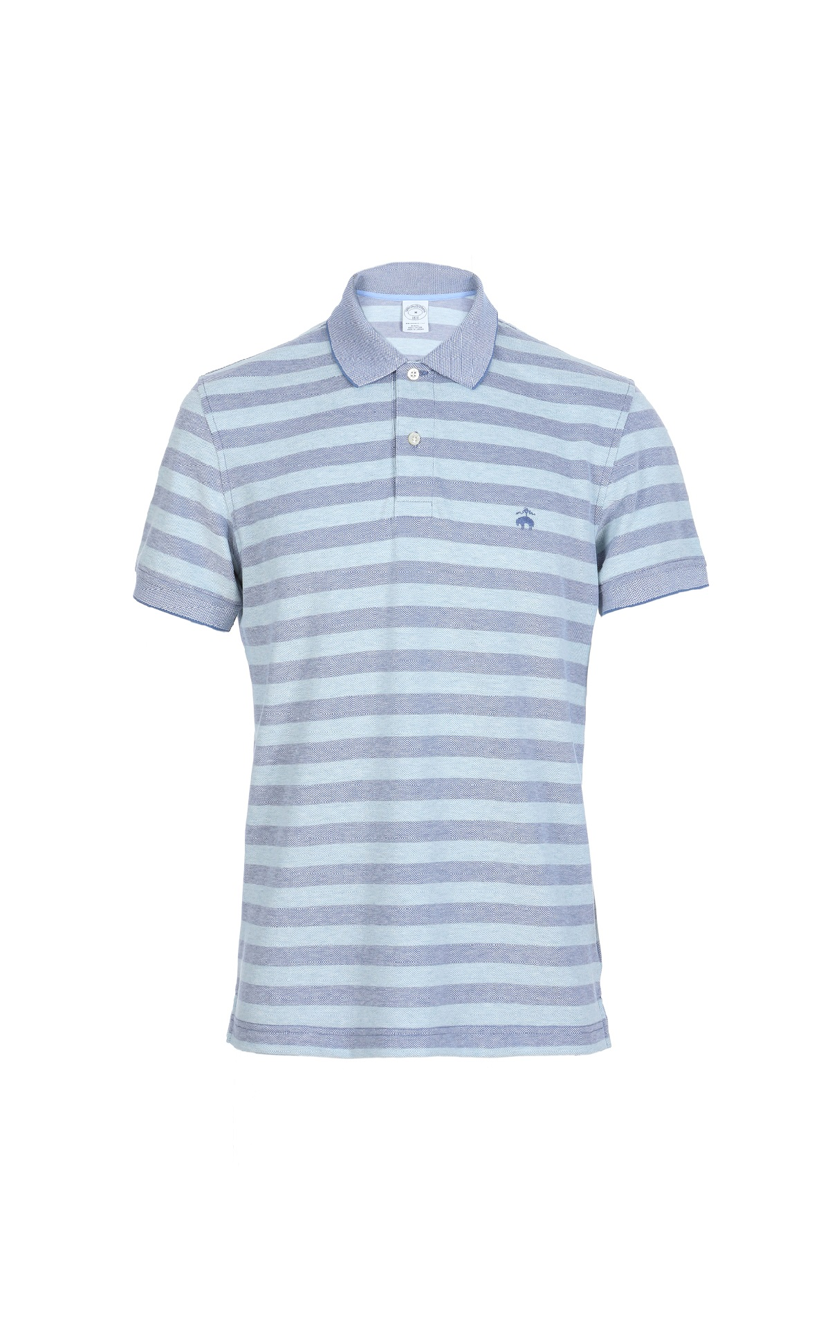 Blue striped Supima cotton S/S Polo shirt for man Brooks Brothers