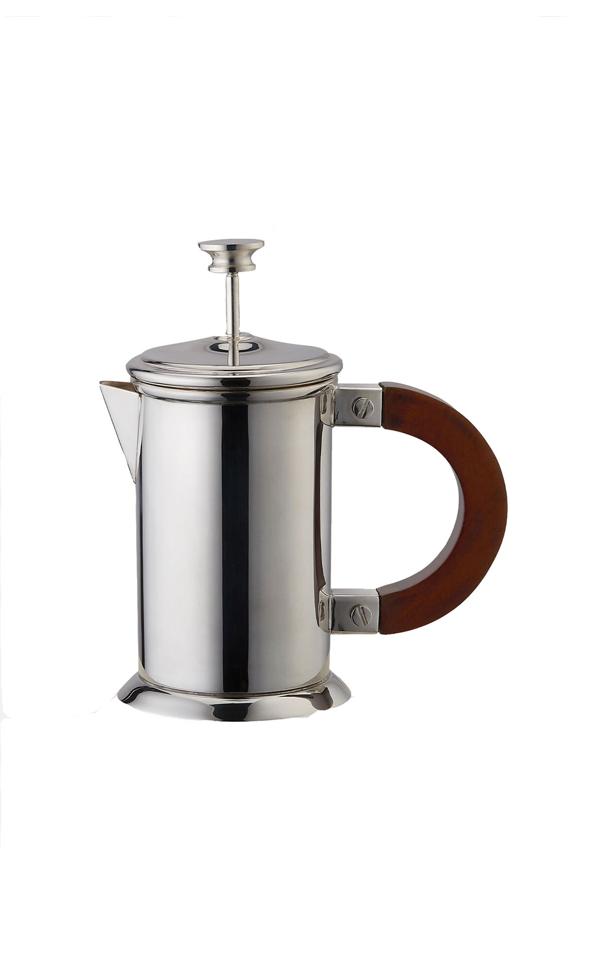 Soho Home Audley silver small coffee press from Bicester Village