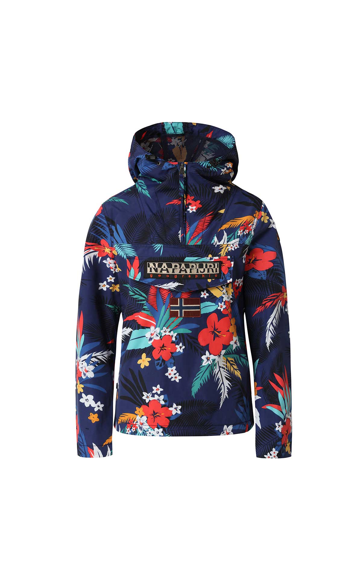 Flowered raincoat woman Napapijri