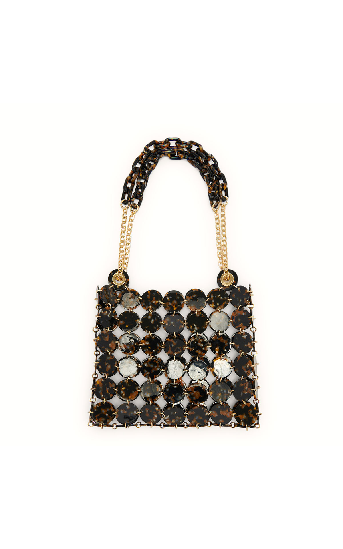 Sandro large bag with jewel chain detail at The Bicester Village Shopping Collection