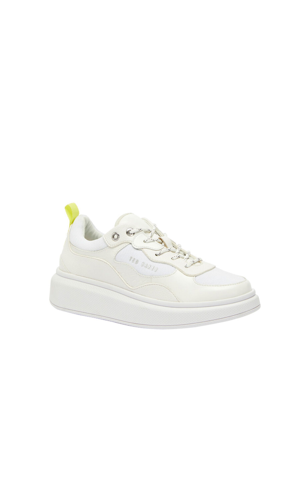 Ted Baker Arellia white platform sole trainer from Bicester Village