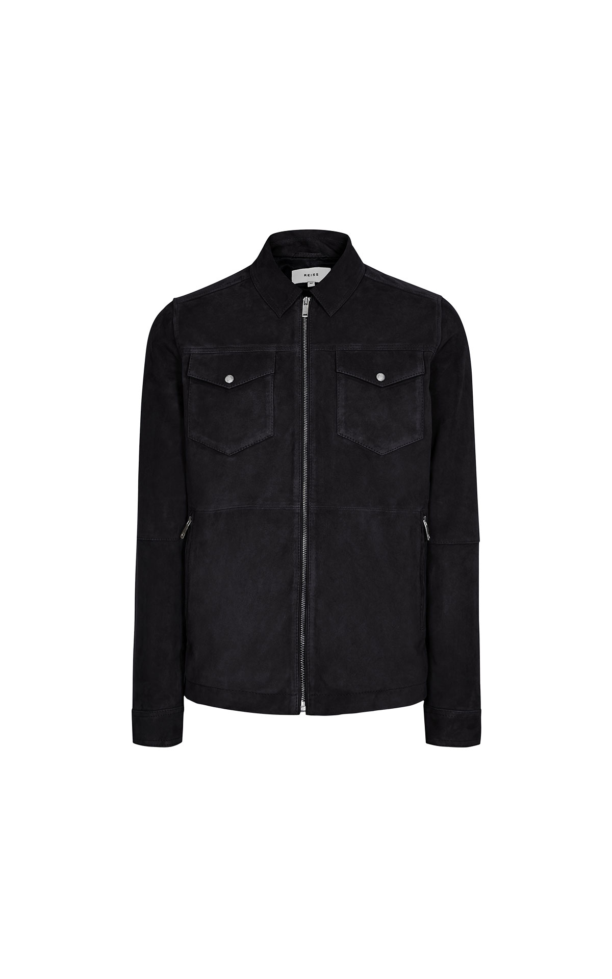 Reiss Cash suede zip through jacket from Bicester Village