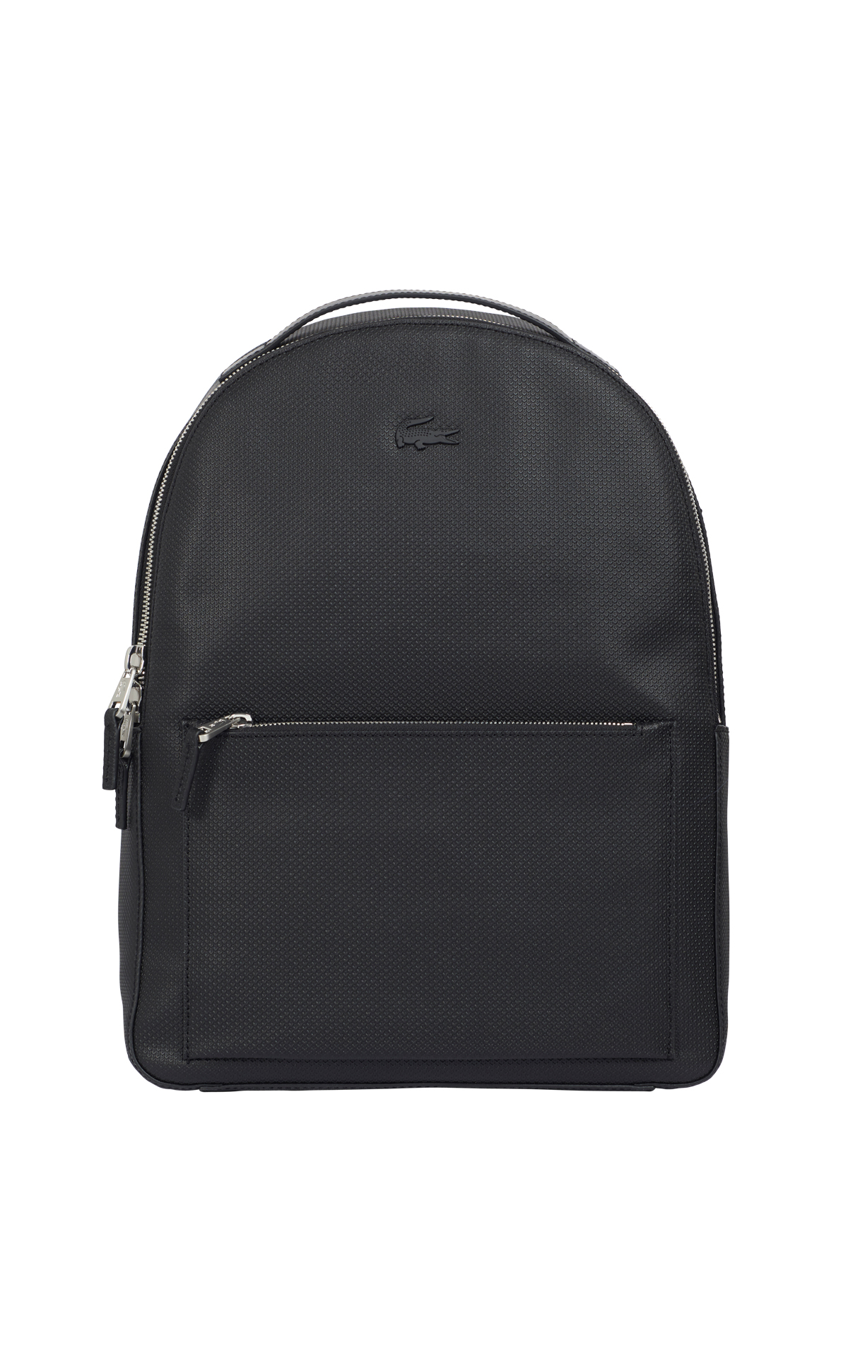 Black leather backpack Lacoste