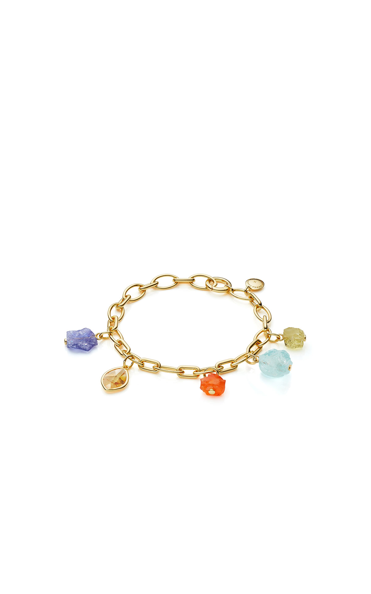 Monica Vinader Gold vermeil gemstone bracelet - mix from Bicester Village