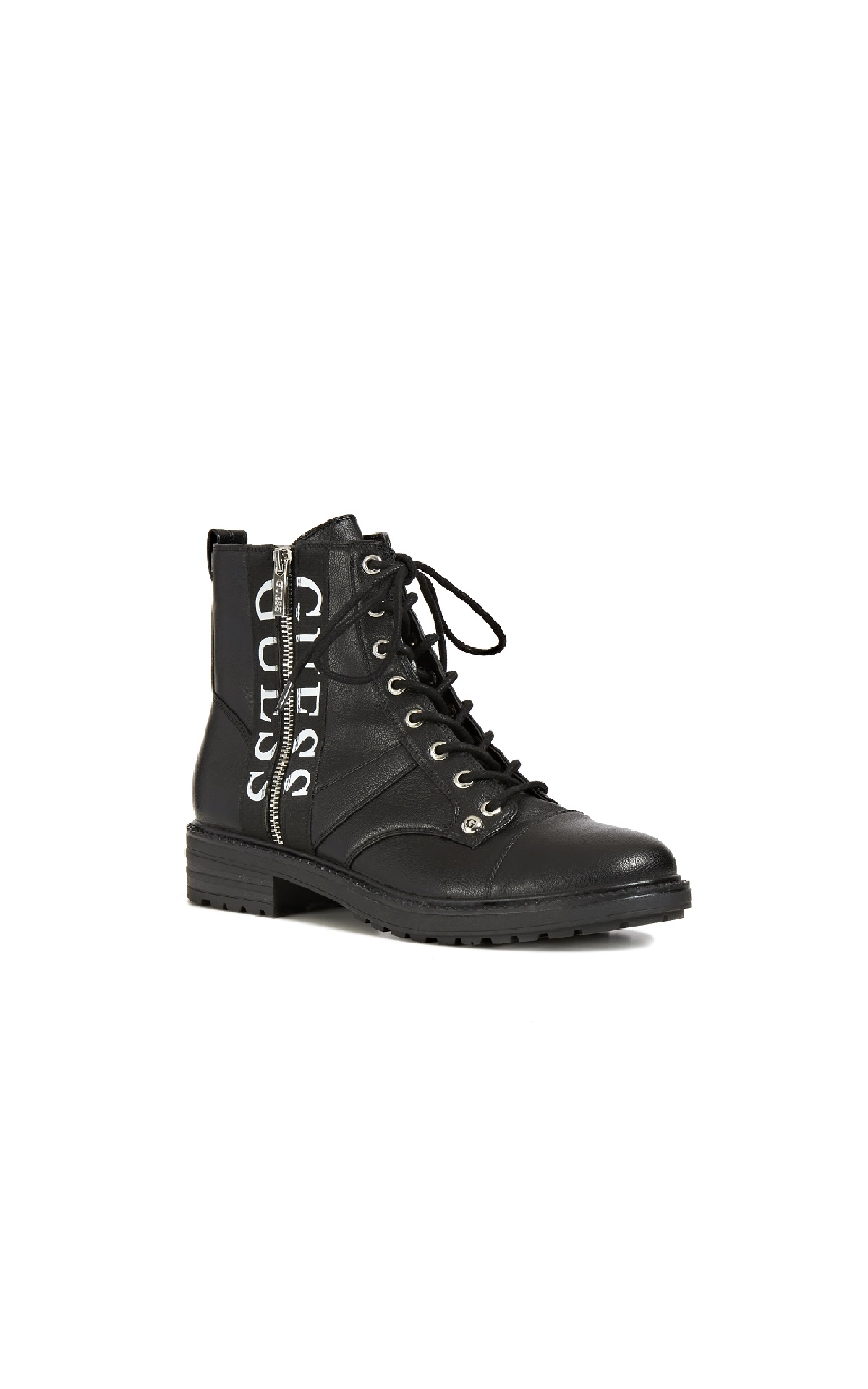 Black ankle boot with logo Guess