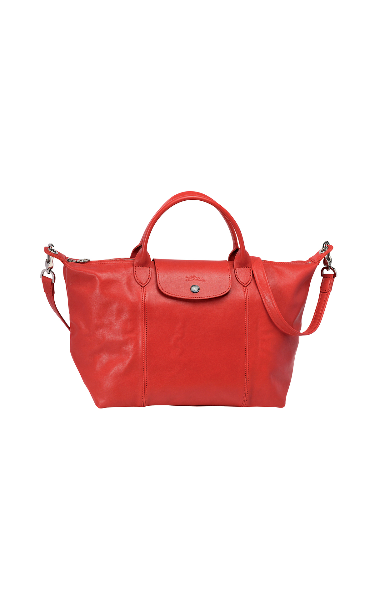 Longchamp Le pliage cuir medium cherry from Bicester Village