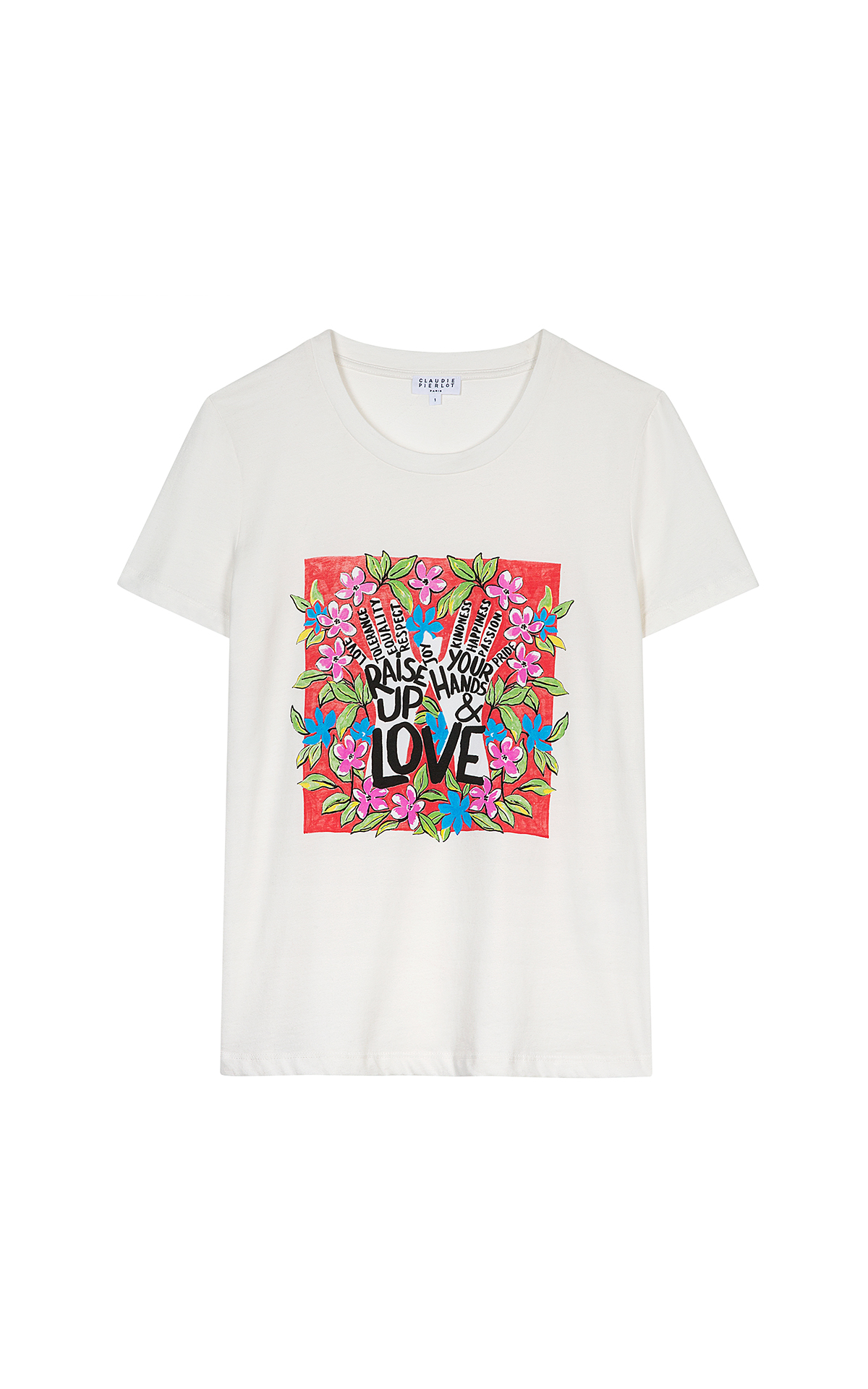 Claudie Pierlot To Believe Rise up t-shirt at The Bicester Village Shopping Collection