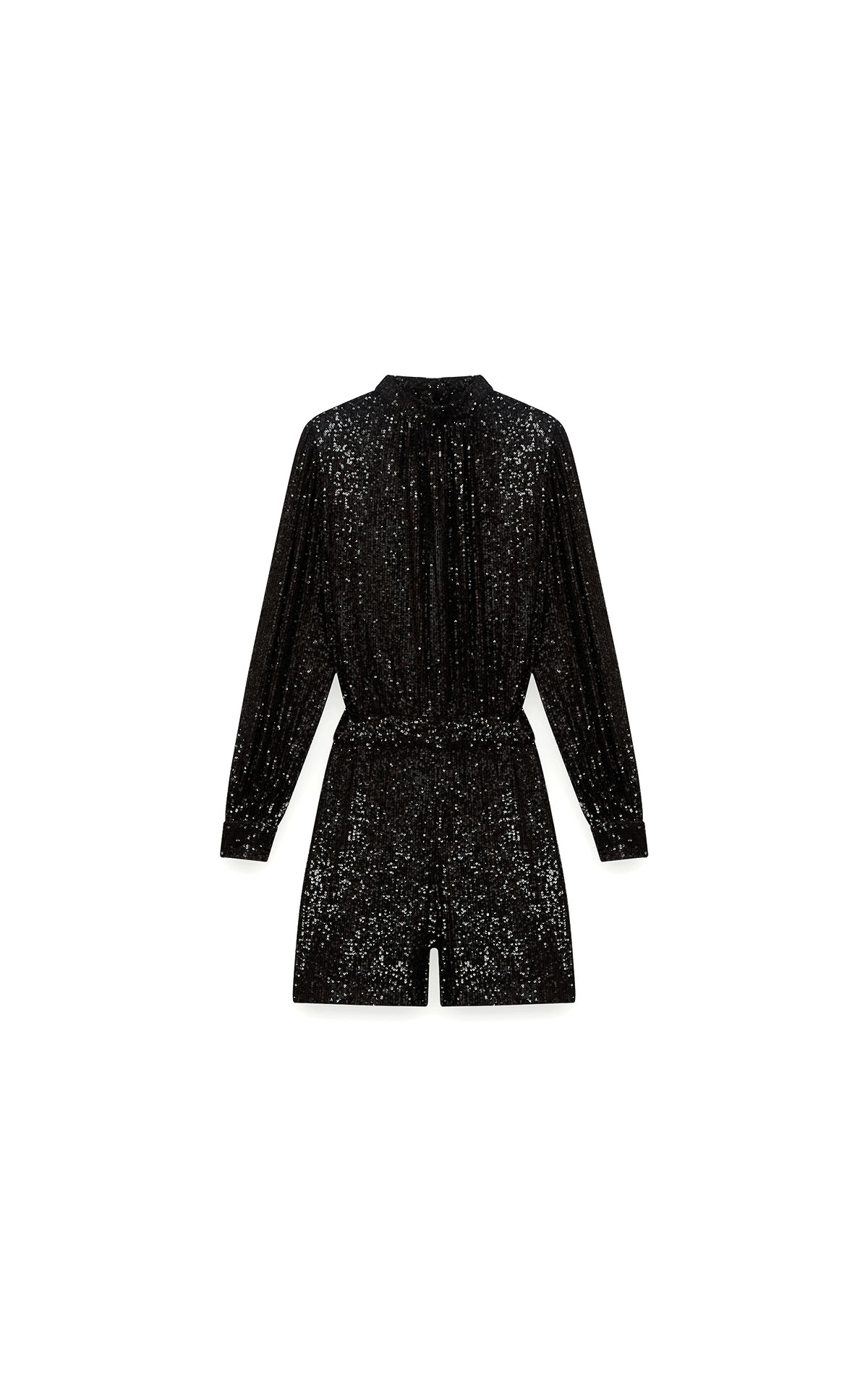 Maje Sequin playsuit in black at The Bicester Village Shopping Collection