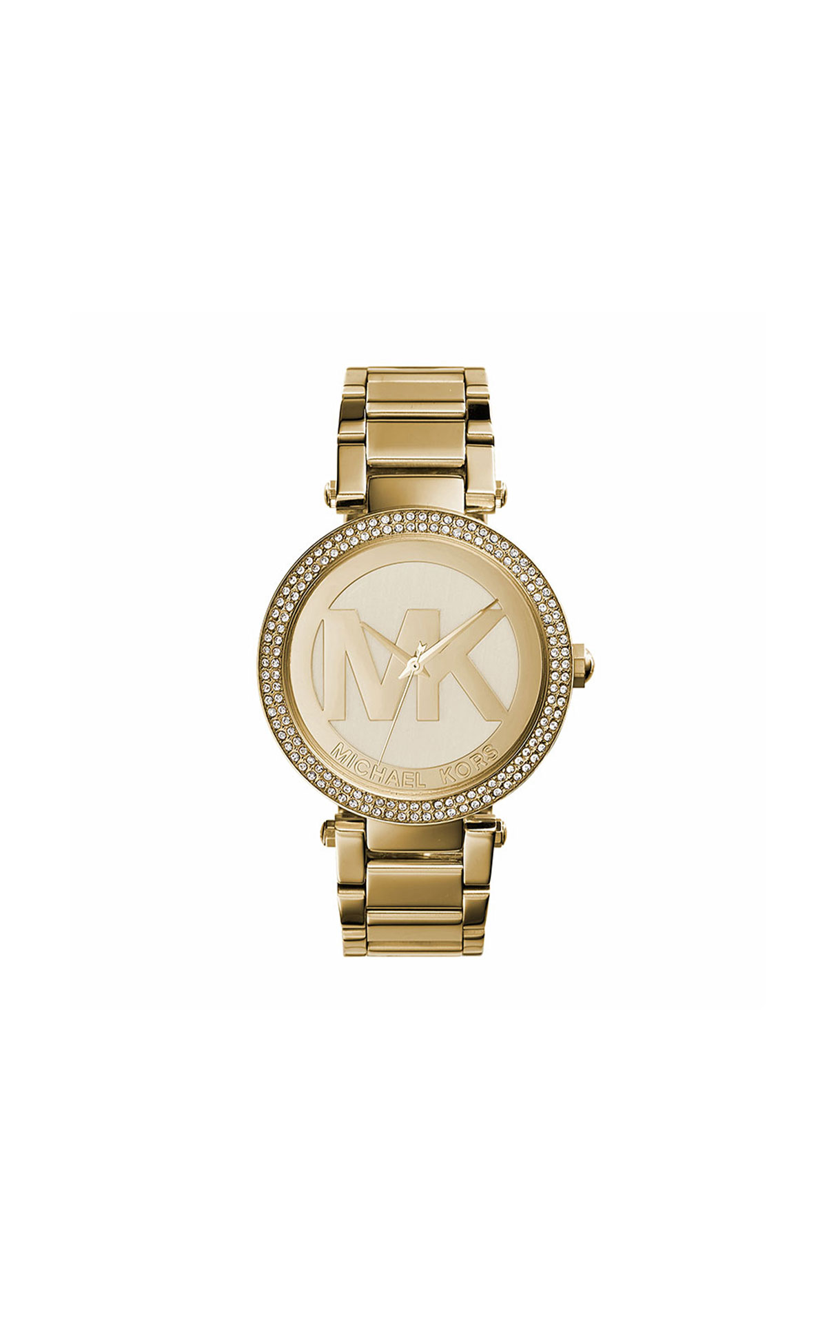 Michael Kors Gold MK logo watch from Bicester Village