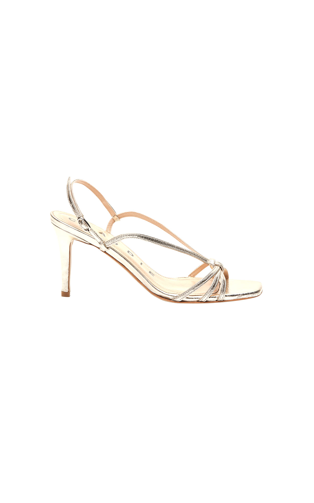 Claudie Pierlot gold sandal at The Bicester Village Shopping Collection