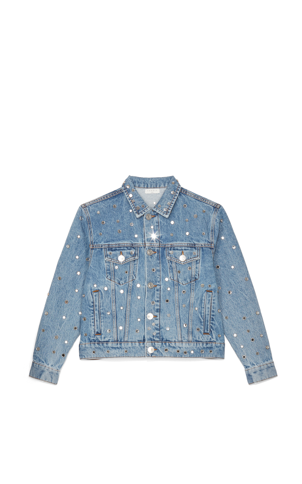 Sandro Studded denim jacket*