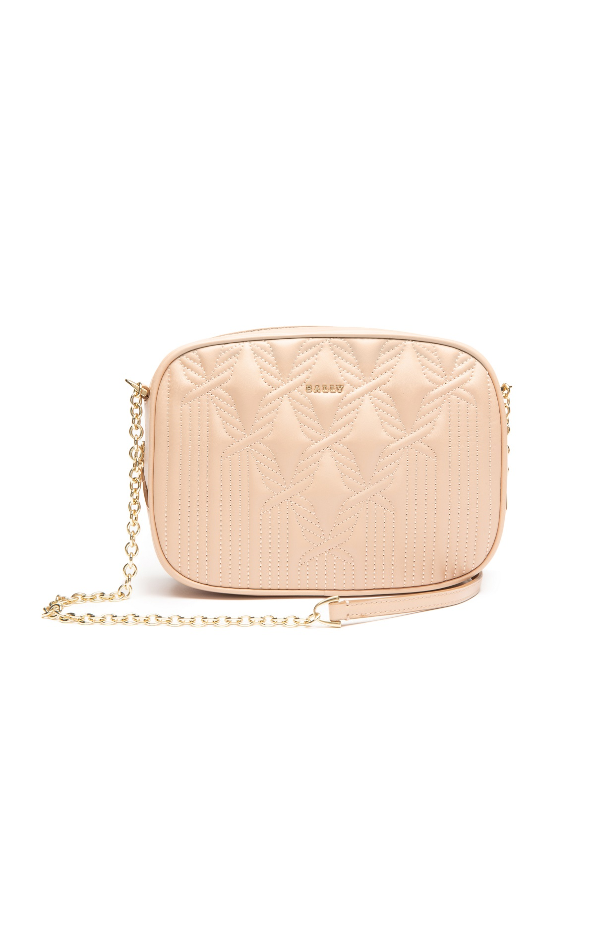 Small nude leather crossbody bag for woman Bally
