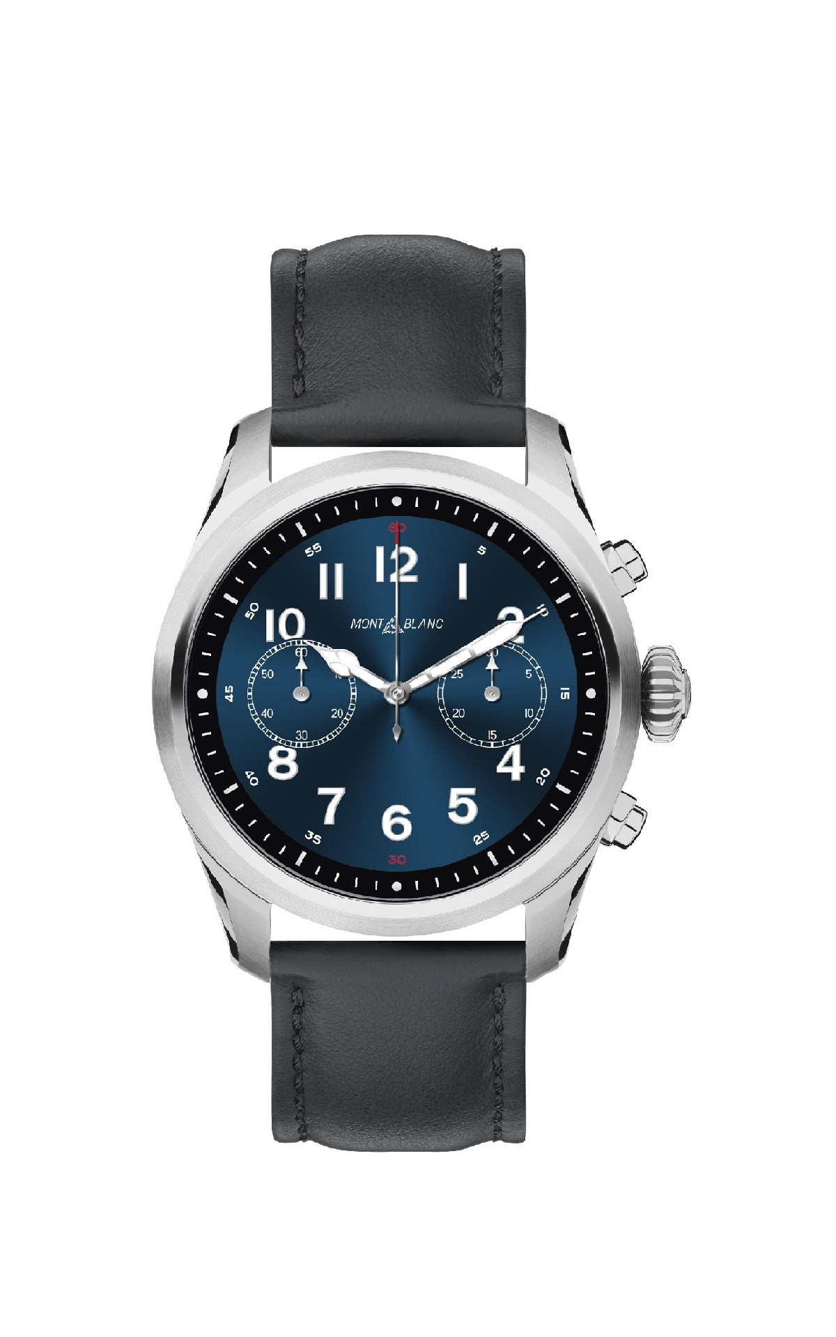 Black and blue leather watch Montblanc