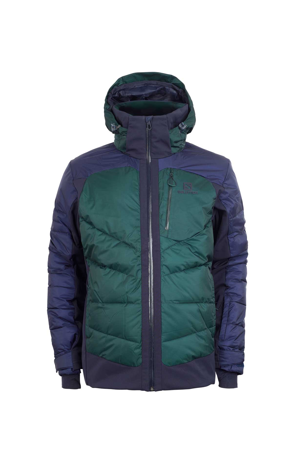 Green and blue down coat Salomon