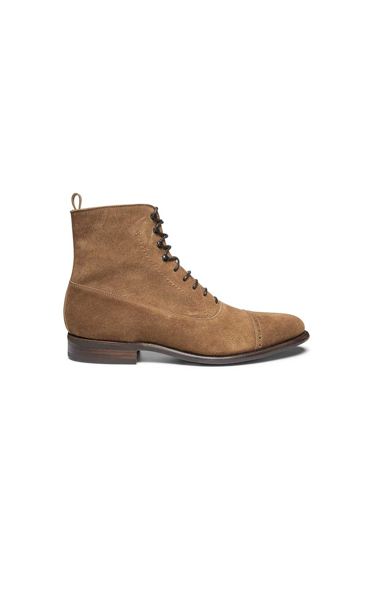 Camel suede ankle boot for men from Lottusse